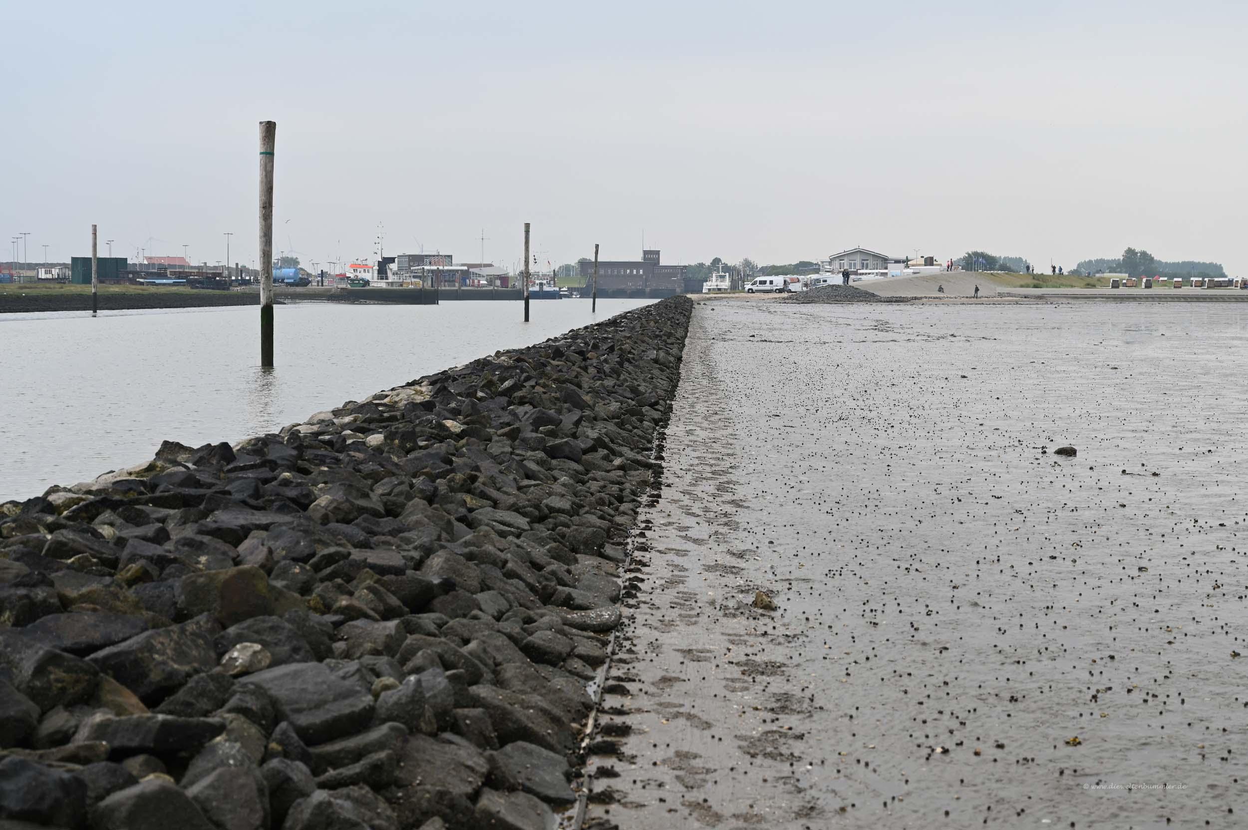 Blick vom Wattenmeer zurück