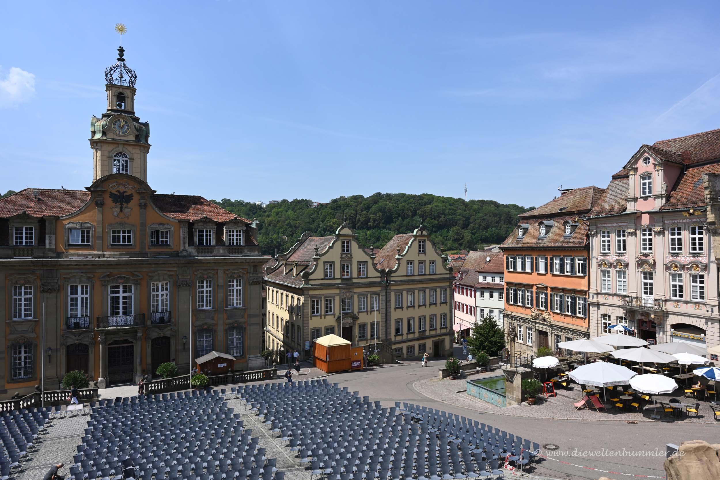 Kirchenvorplatz in Schwäbisch Hall