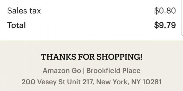 Beleg von Amazon Go