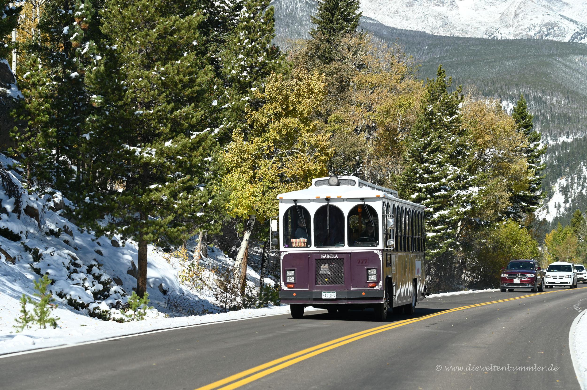 Bus im Nationalpark