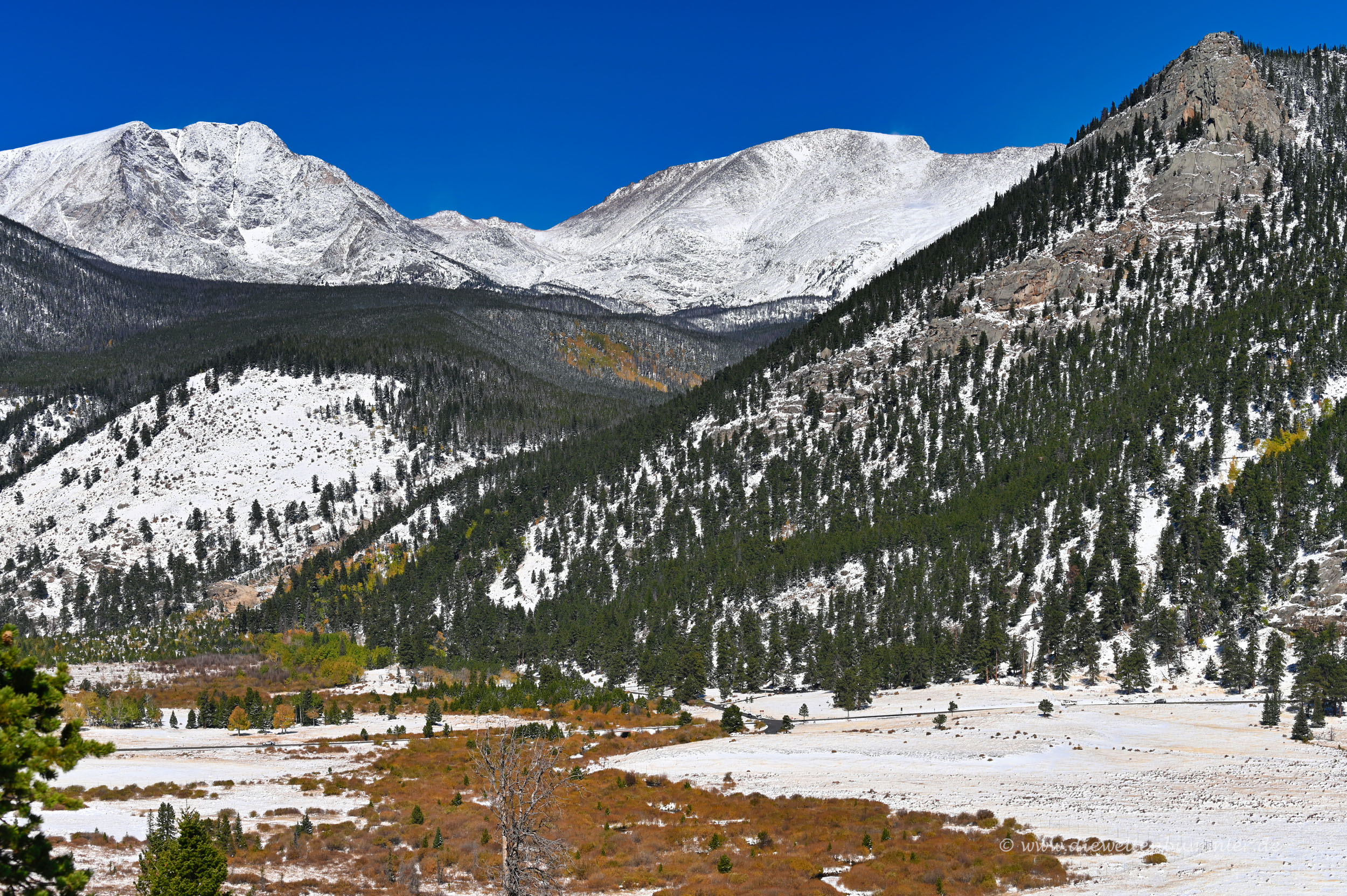 Landschaft der Rockies