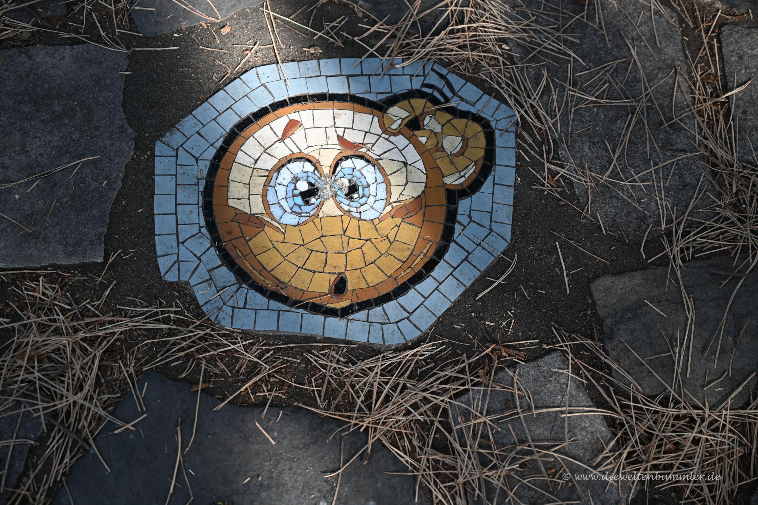Mosaik im Park von Southampton