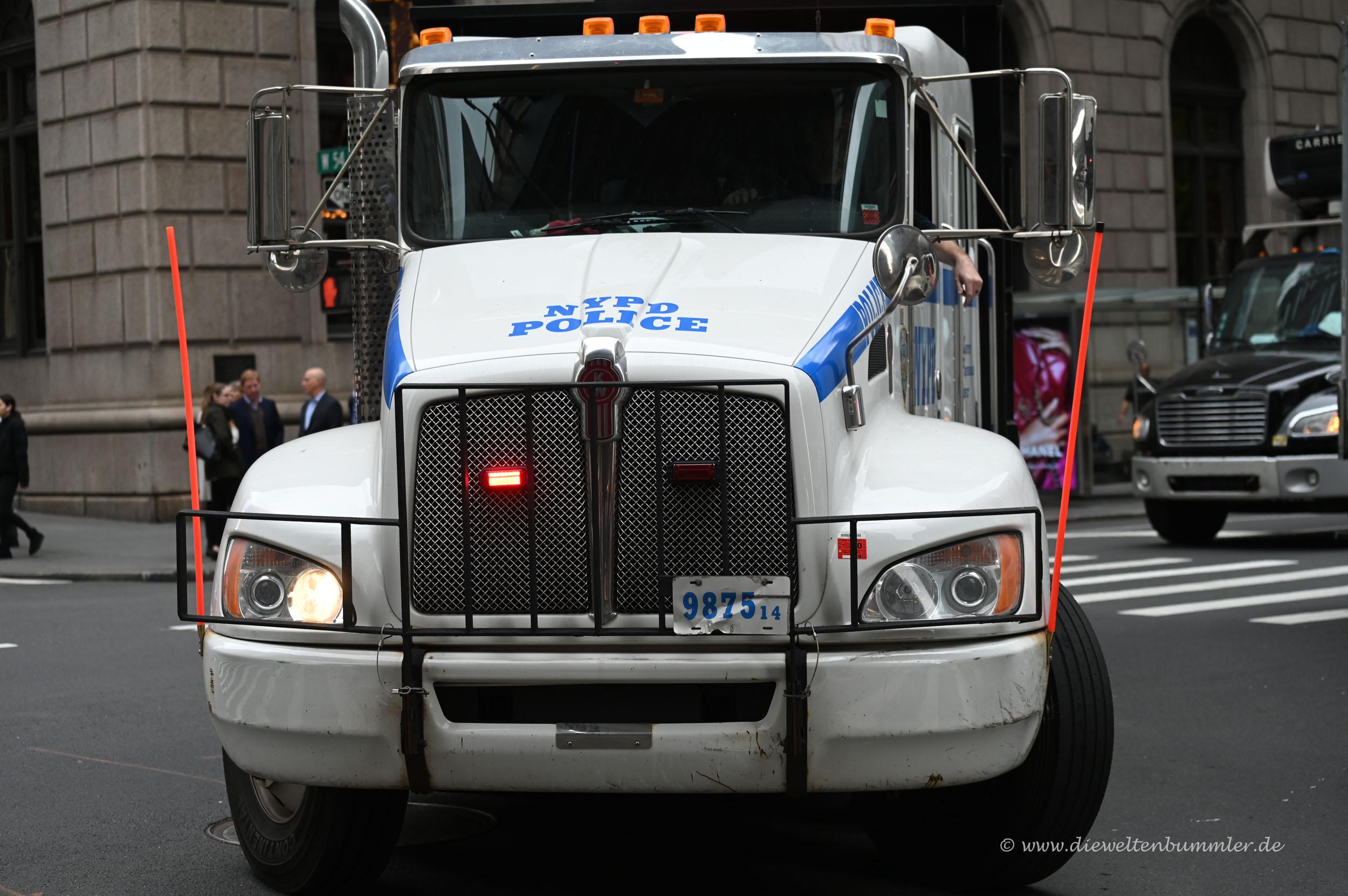 Lastwagen vom NYPD