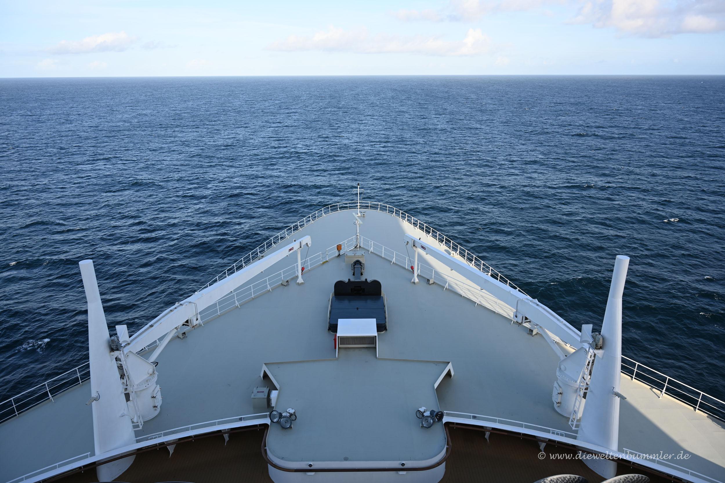 Bug der Queen Mary 2