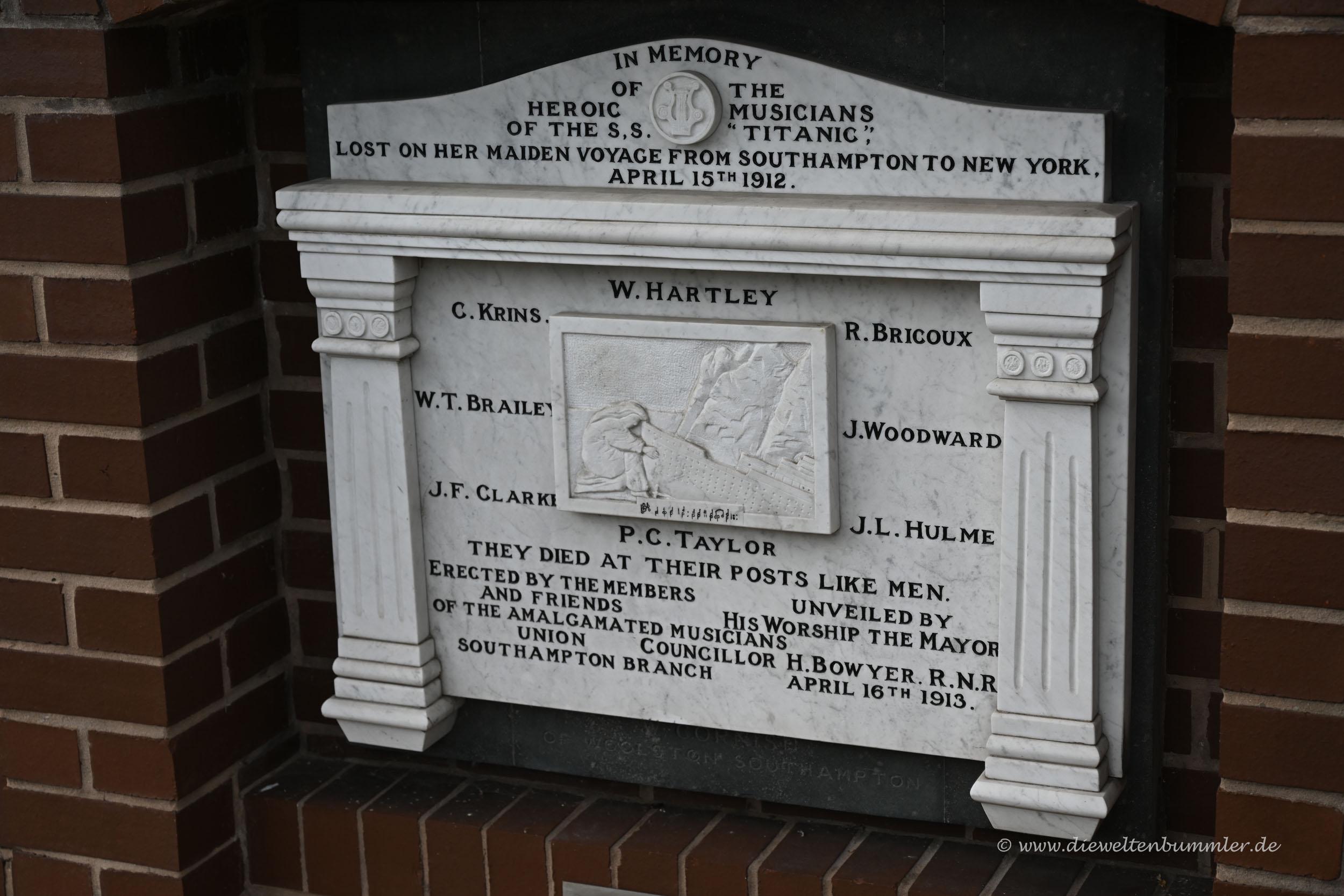 Zweites Titanic Denkmal