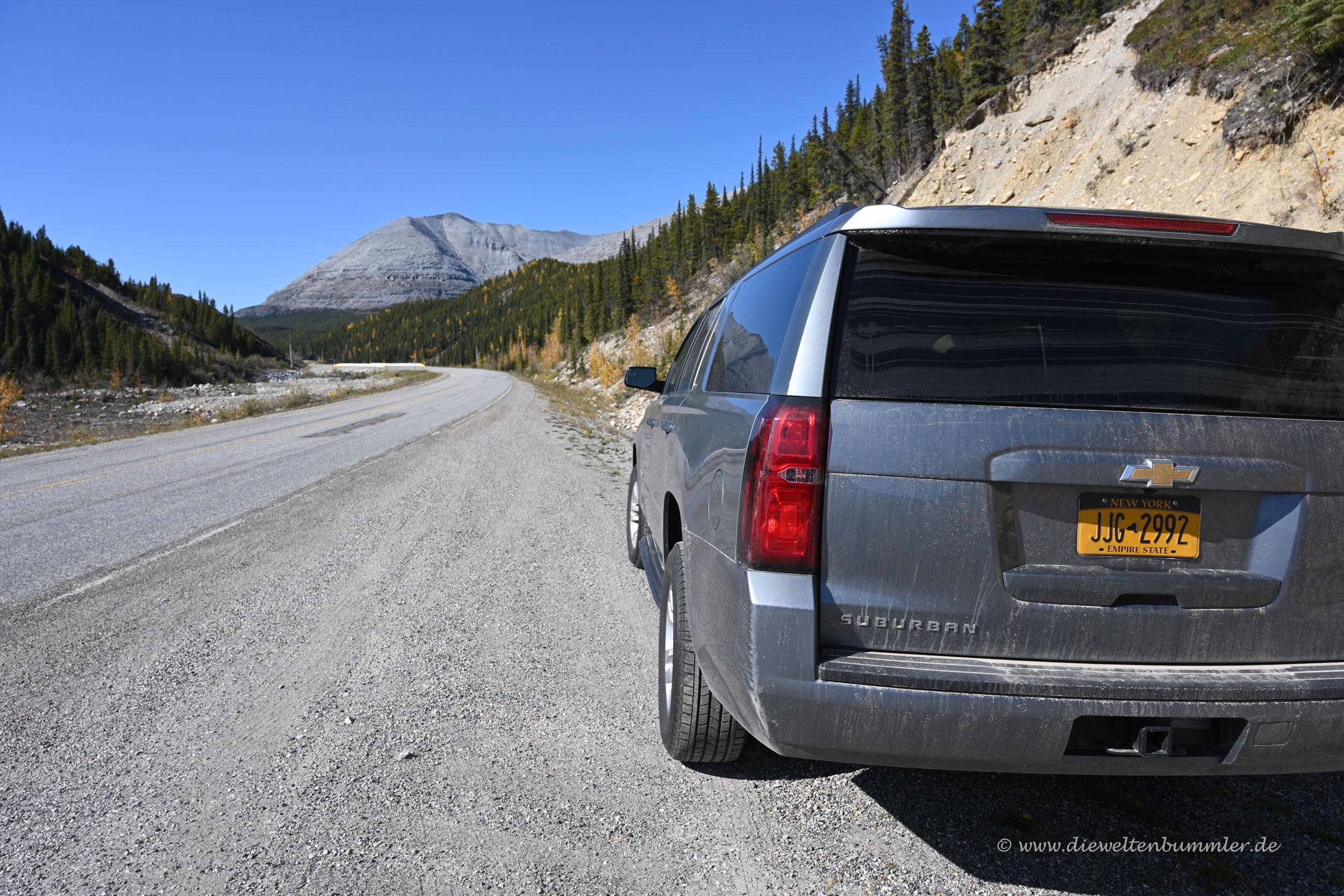 Mit unserem Mietwagen zum Yukon