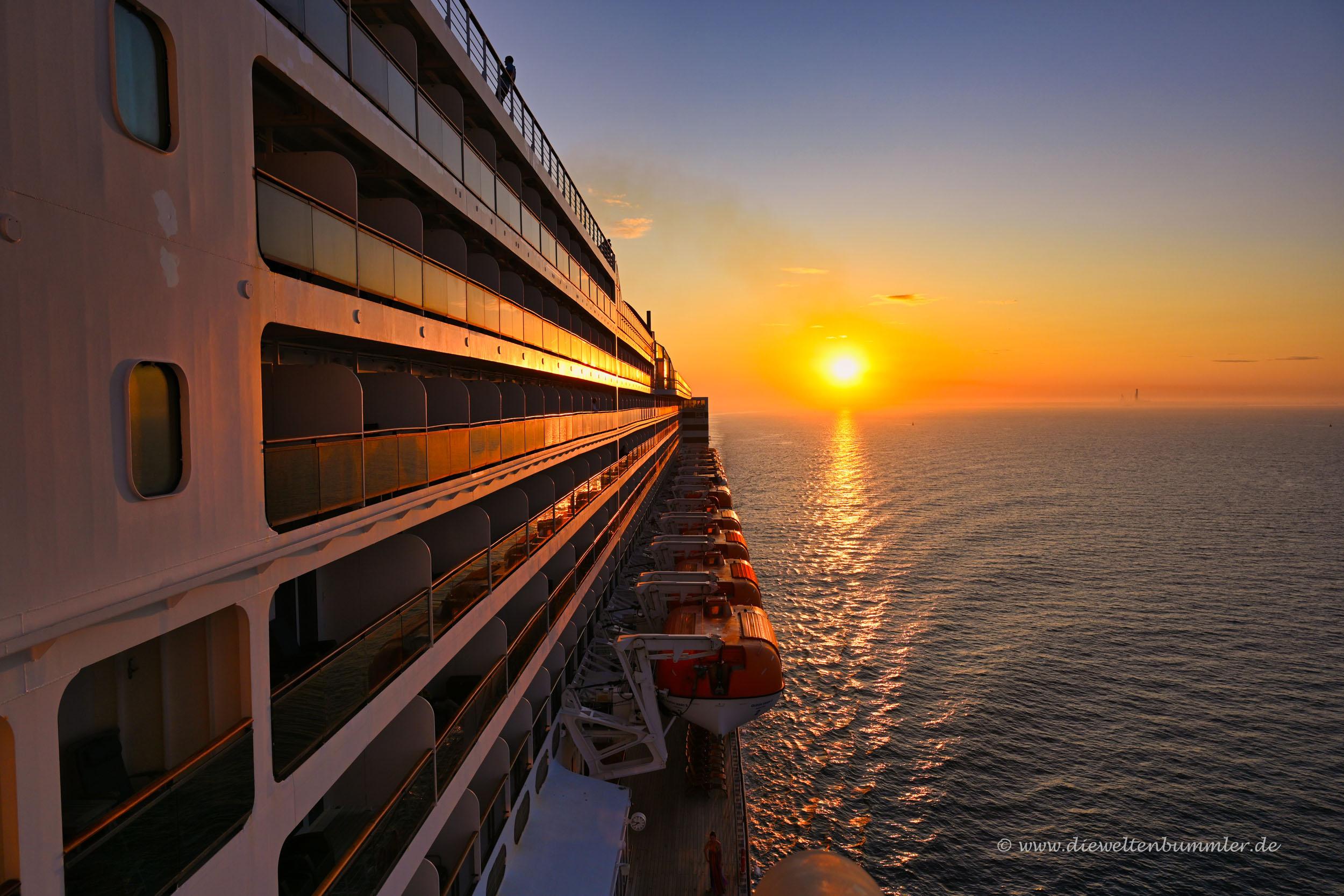 Sonnenuntergang bei Southampton