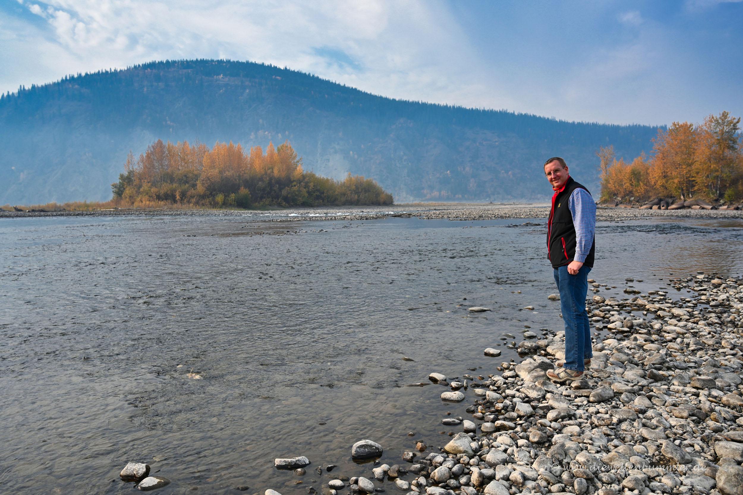 Michael Moll am Klondike River