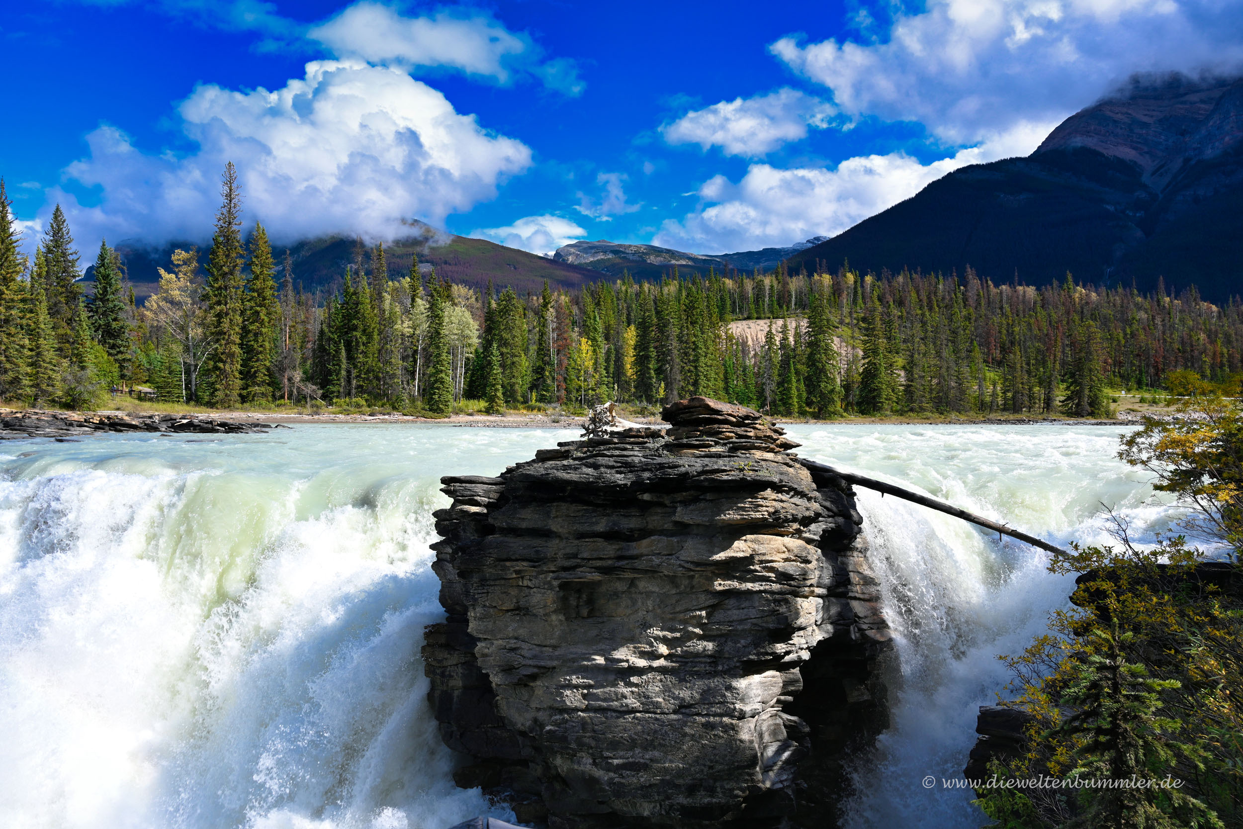 Wasserfälle vom Athabasca River