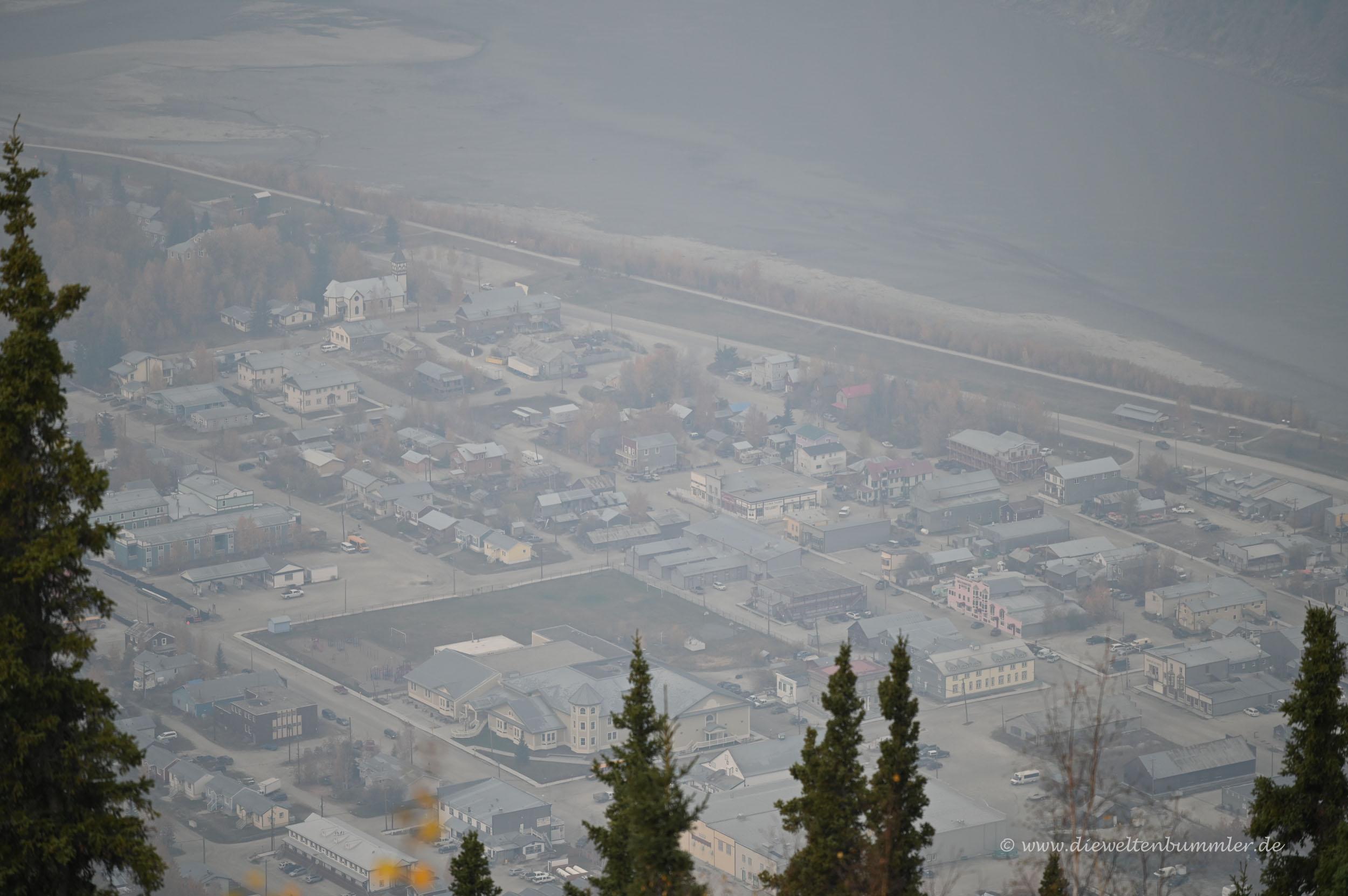 Ausblick auf die verrauchte Stadt