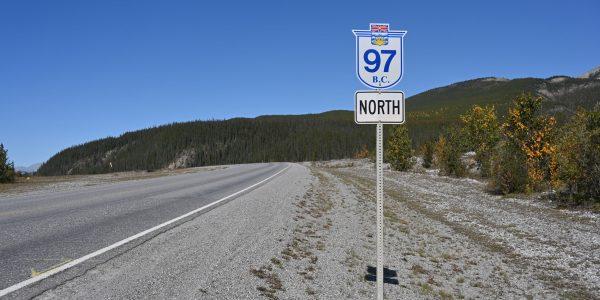 Die 97 ist der Alaska Highway