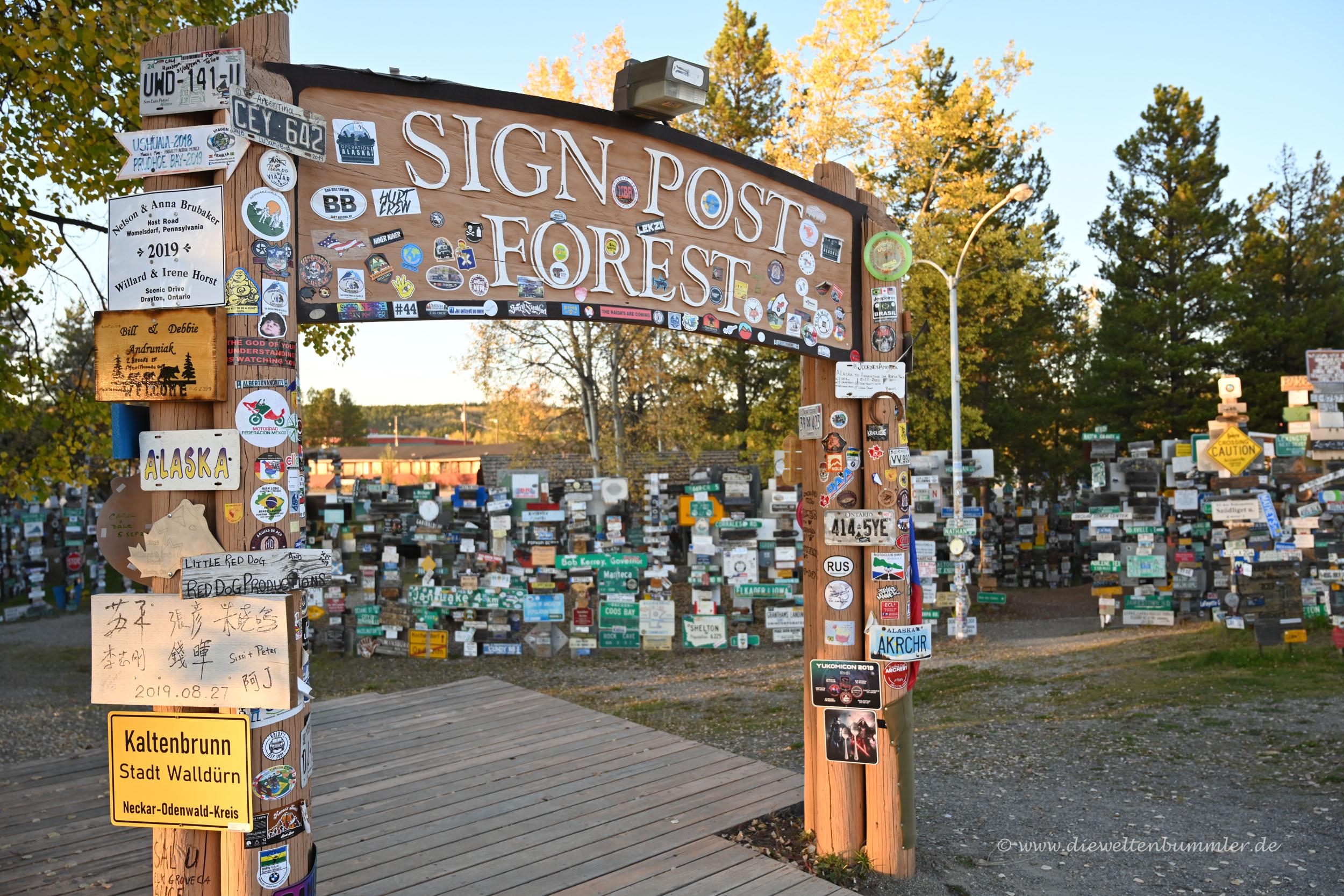 Zugang zum Sign Post Forst