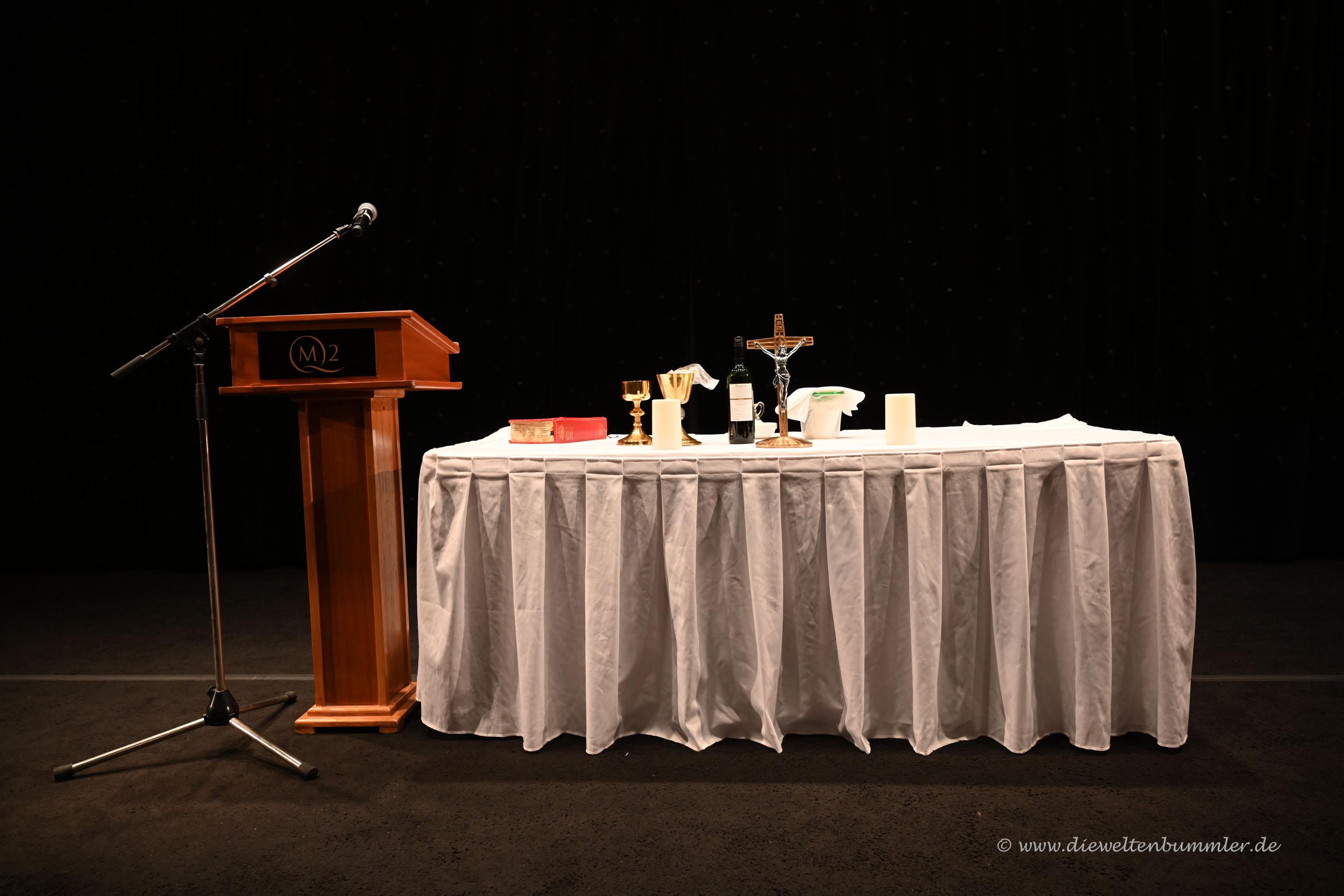 Altar der morgendlichen Messe