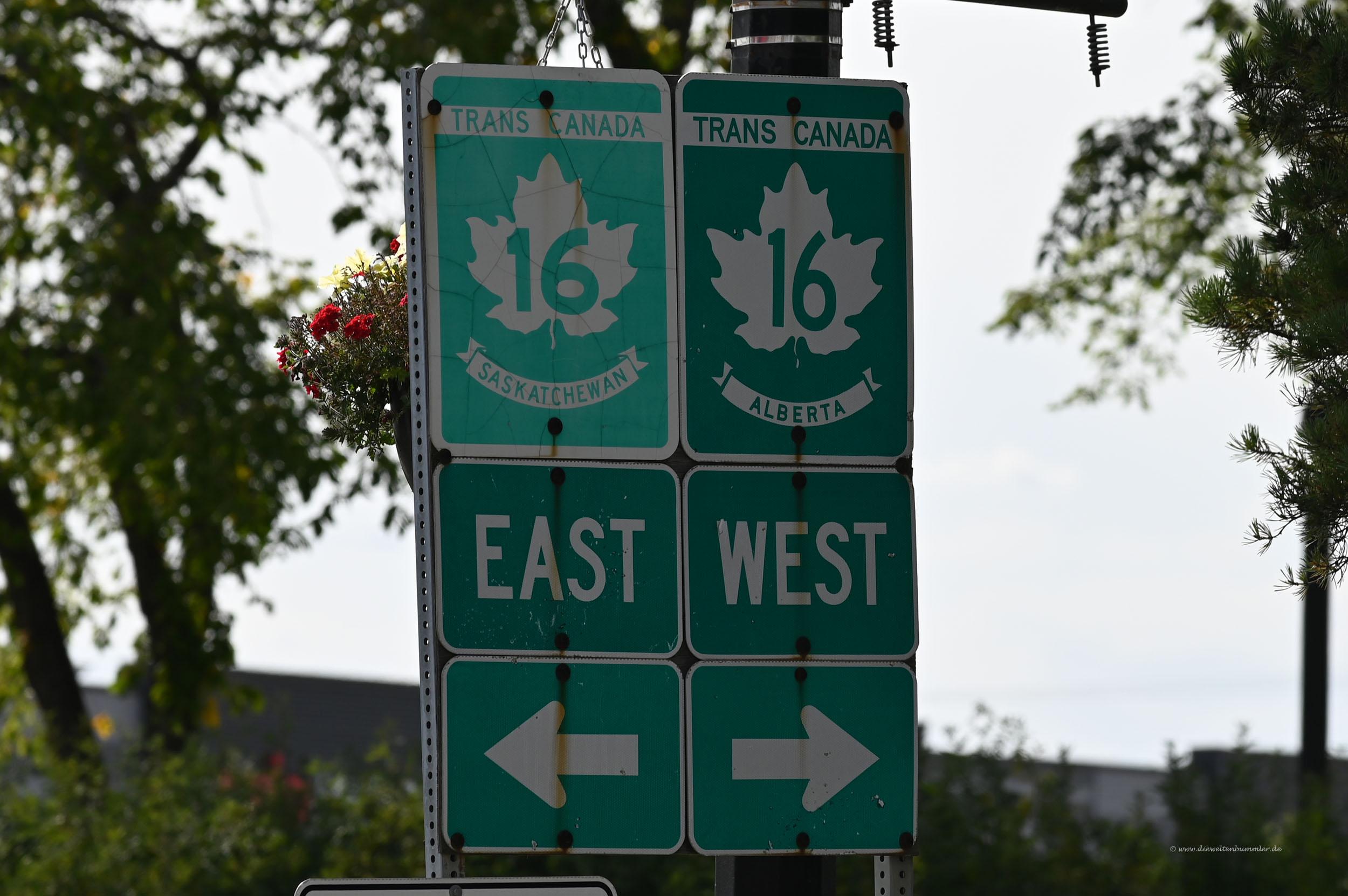 Auf dem Transkanada-Highway
