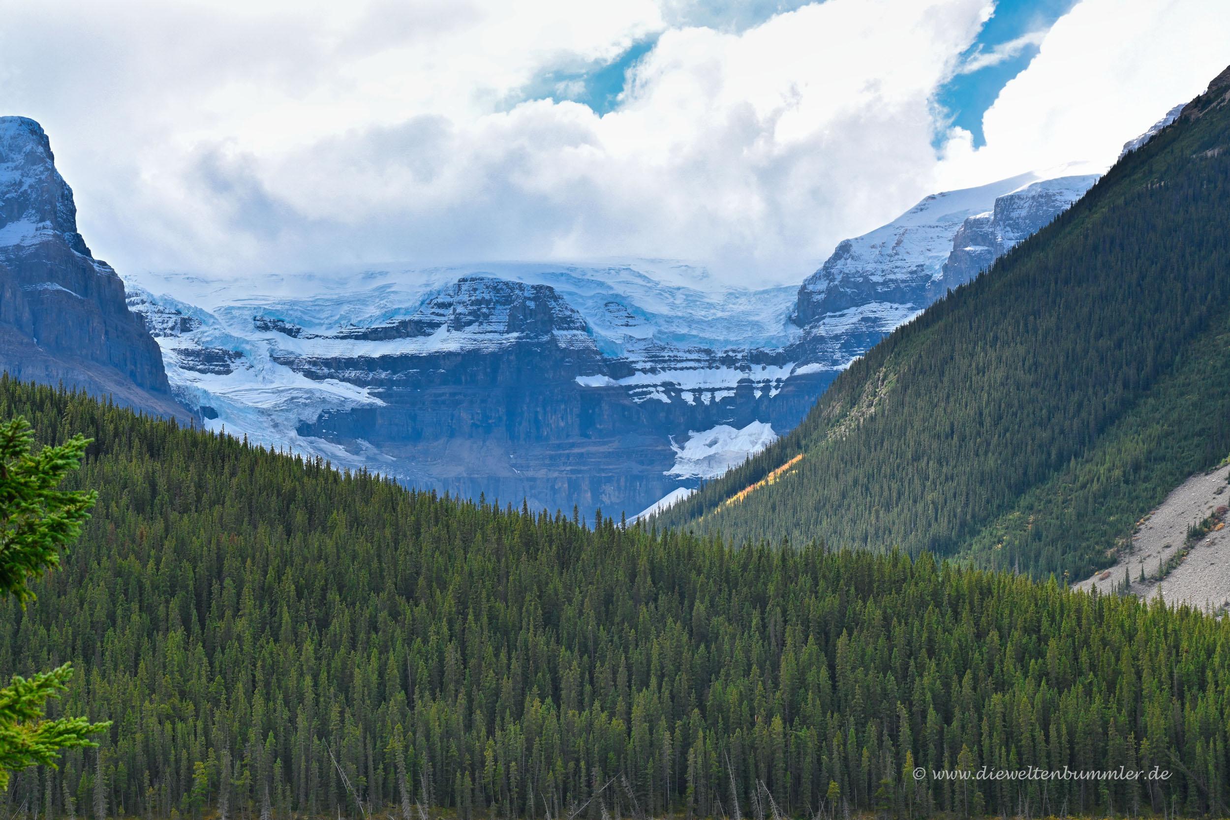Teil des Columbia Gletscher