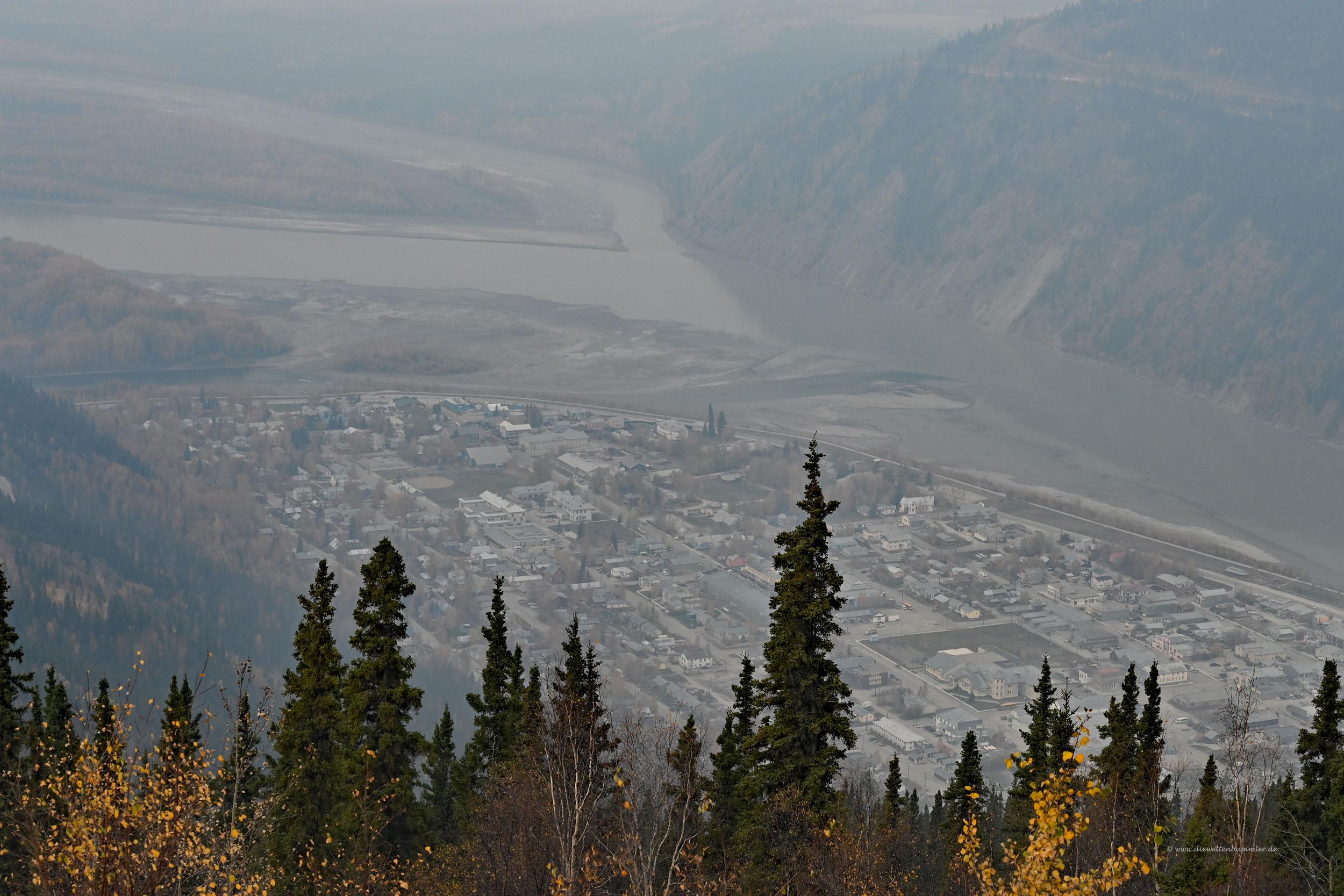 Dawson City von oben