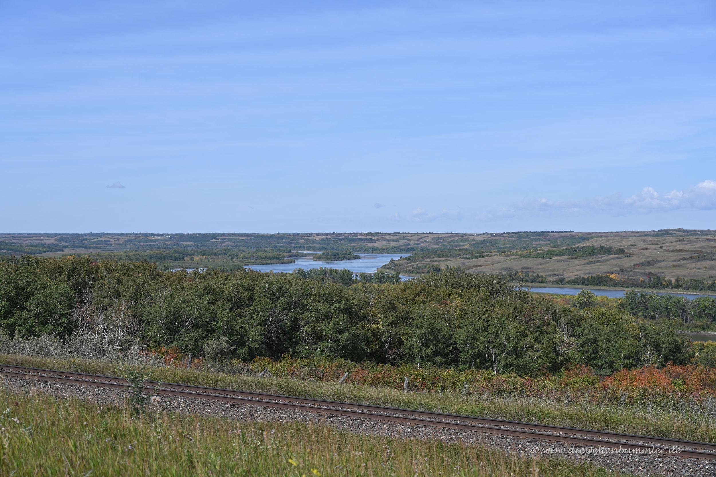 Ausblick auf den North Saskatchewan River
