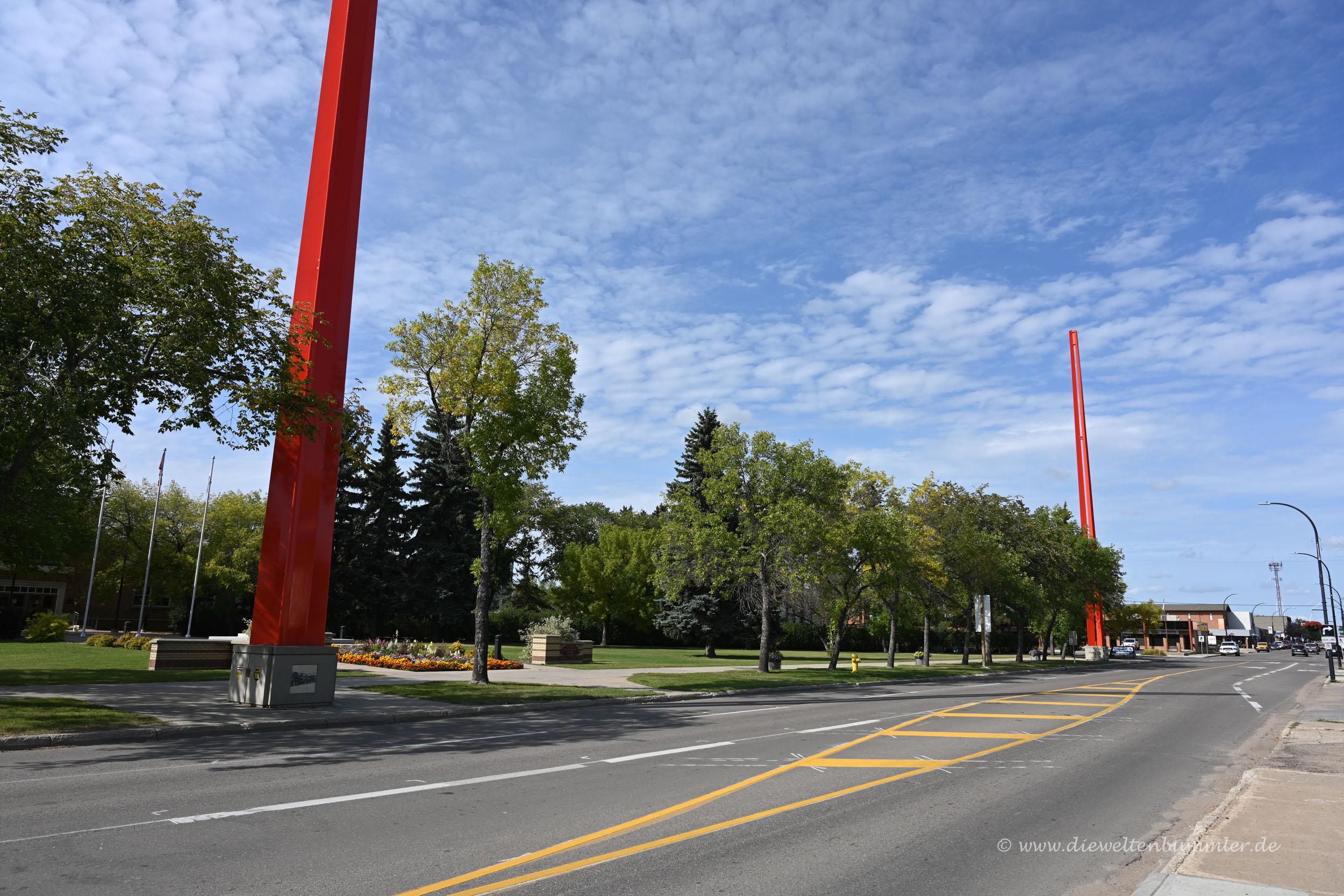 Grenze zwischen Alberta und Saskatchewan