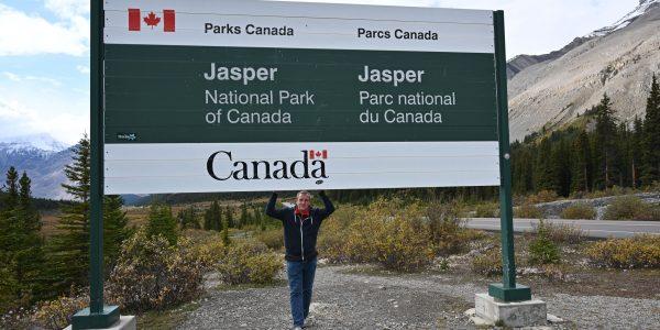 Schild für den Jasper Nationalpark