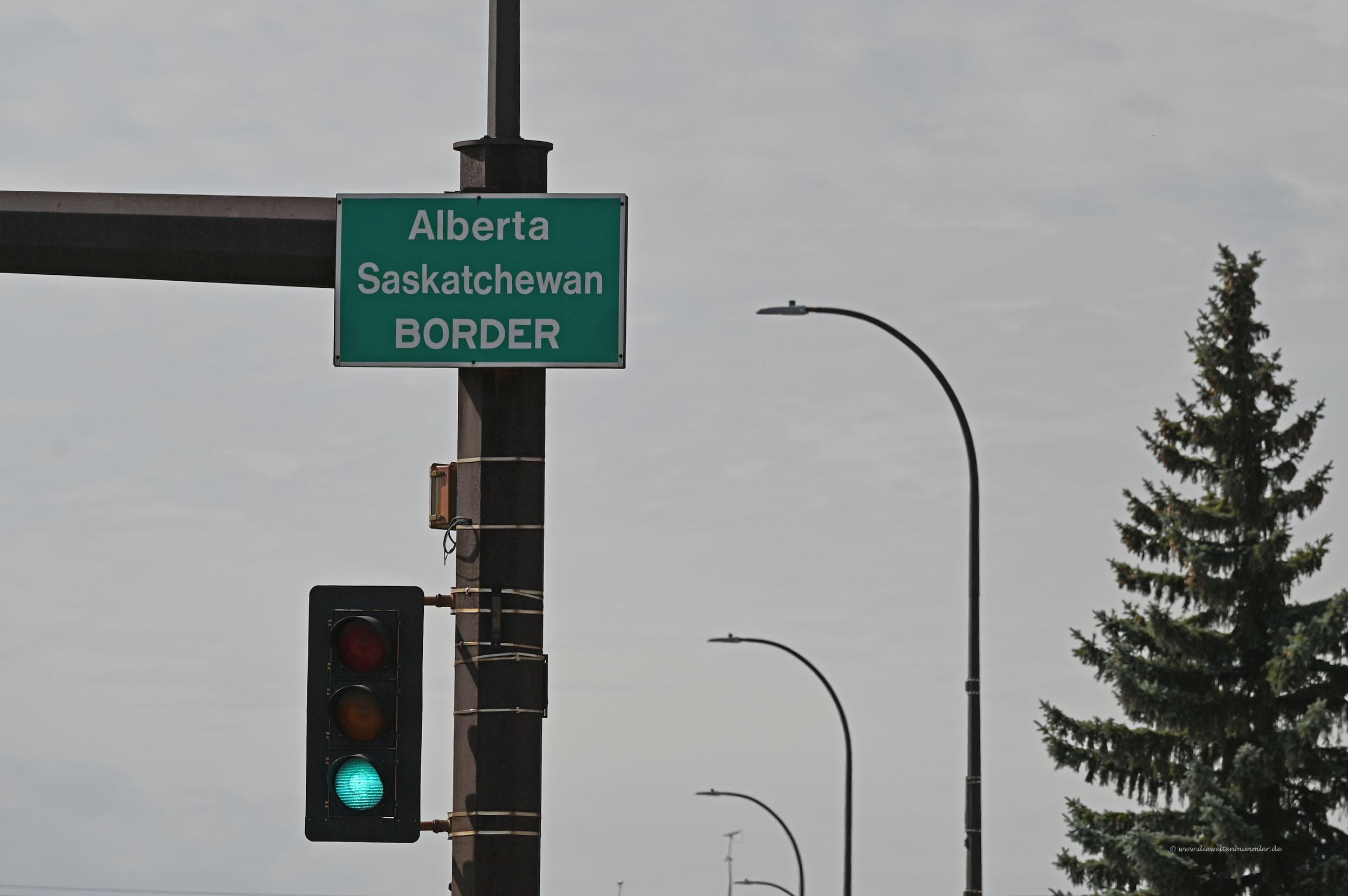 Grenze nach Alberta