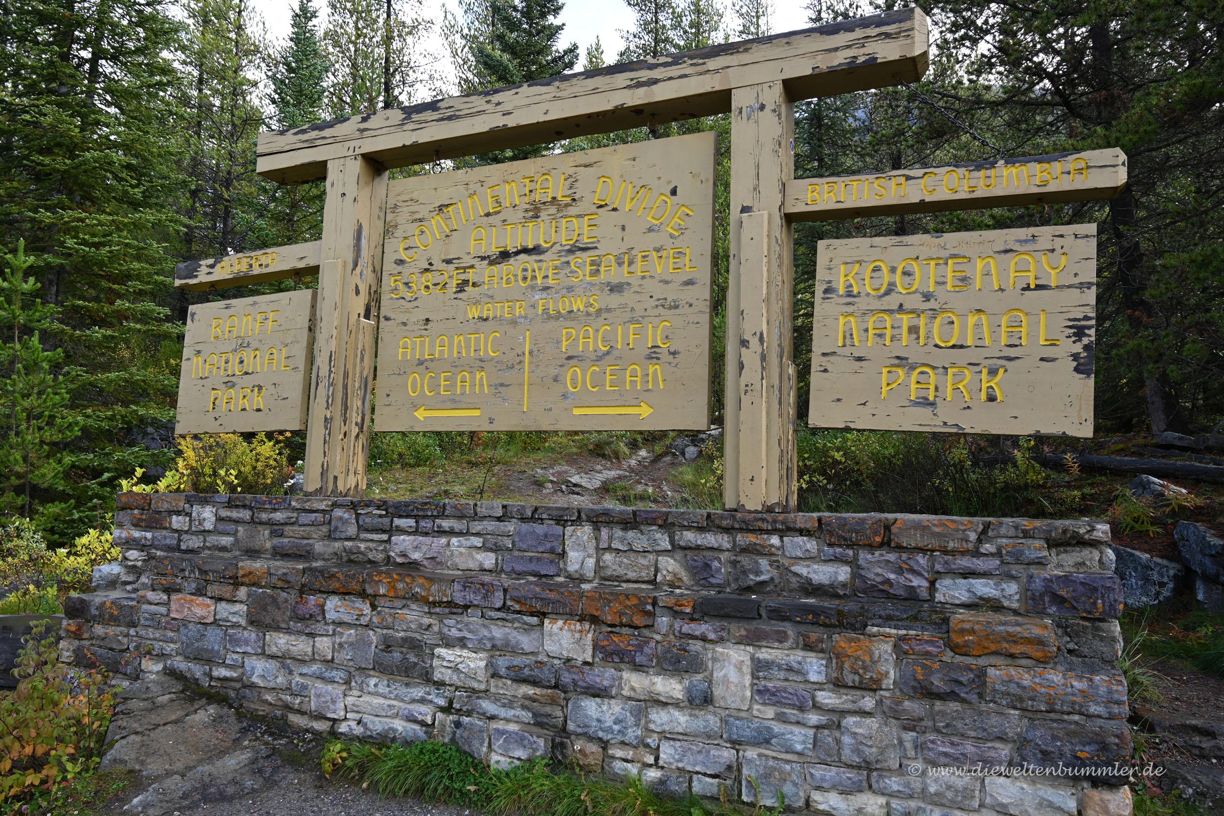 Übergang zum Kootenay Nationalpark