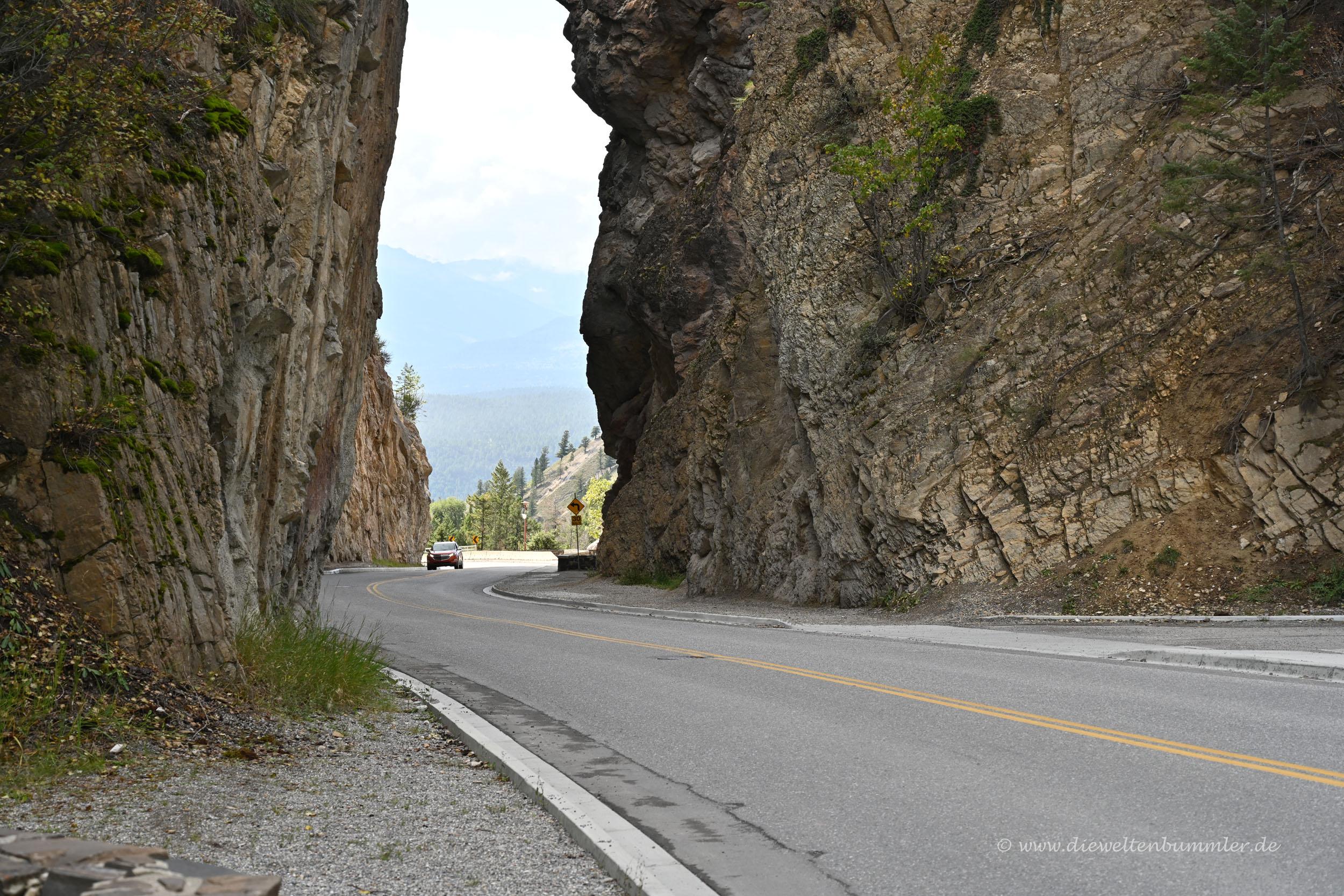 Durchbruch im Kootenay Nationalpark