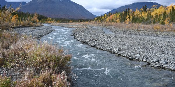 Gebirgsfluss am Kluane Nationalpark