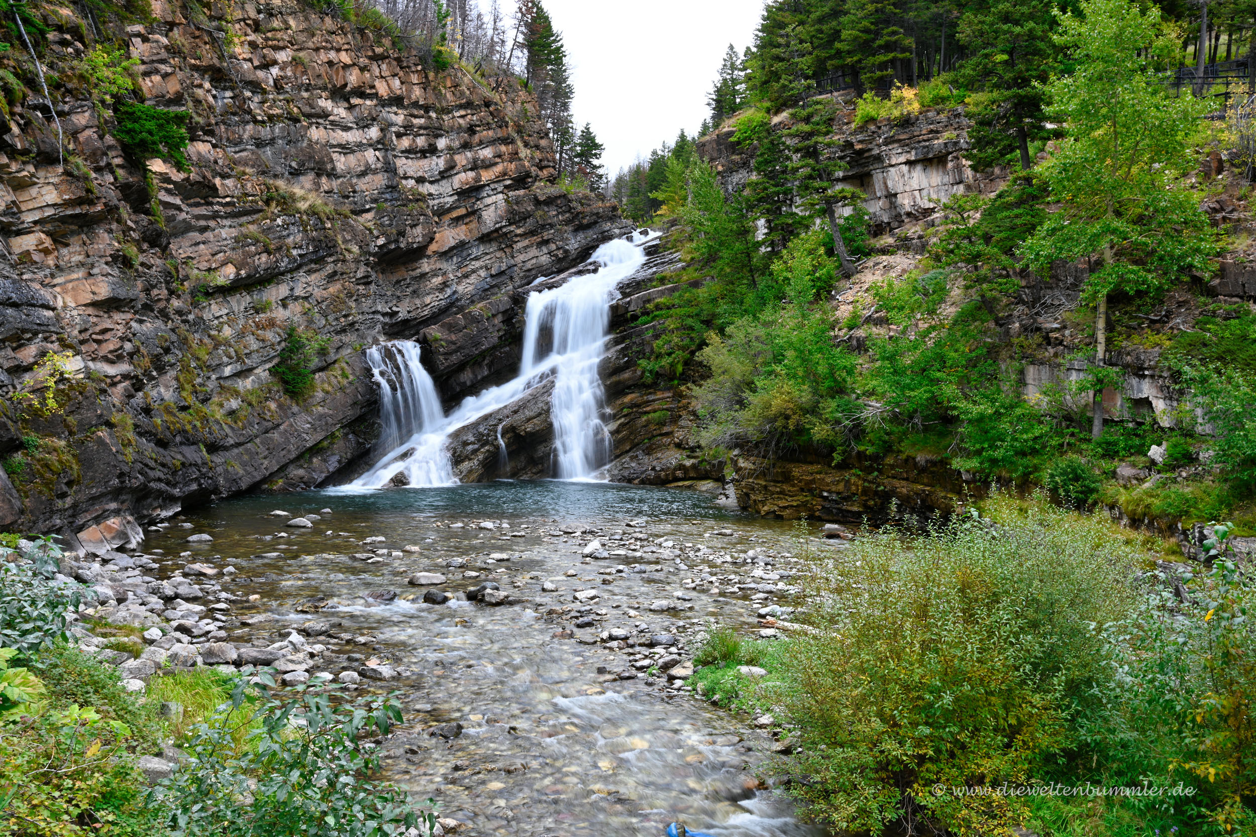Wasserfall im Waterton Lakes Nationalpark