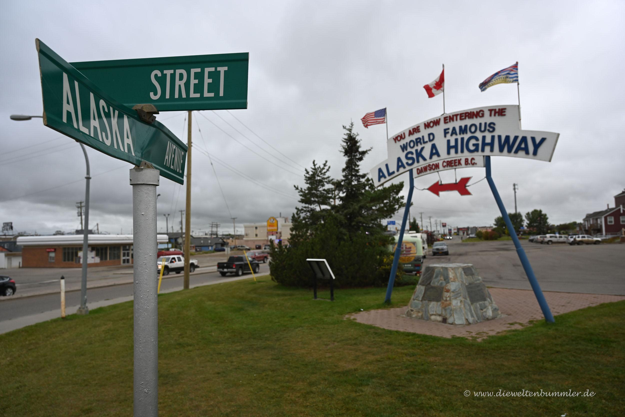 Hier startet der Alaska Highway