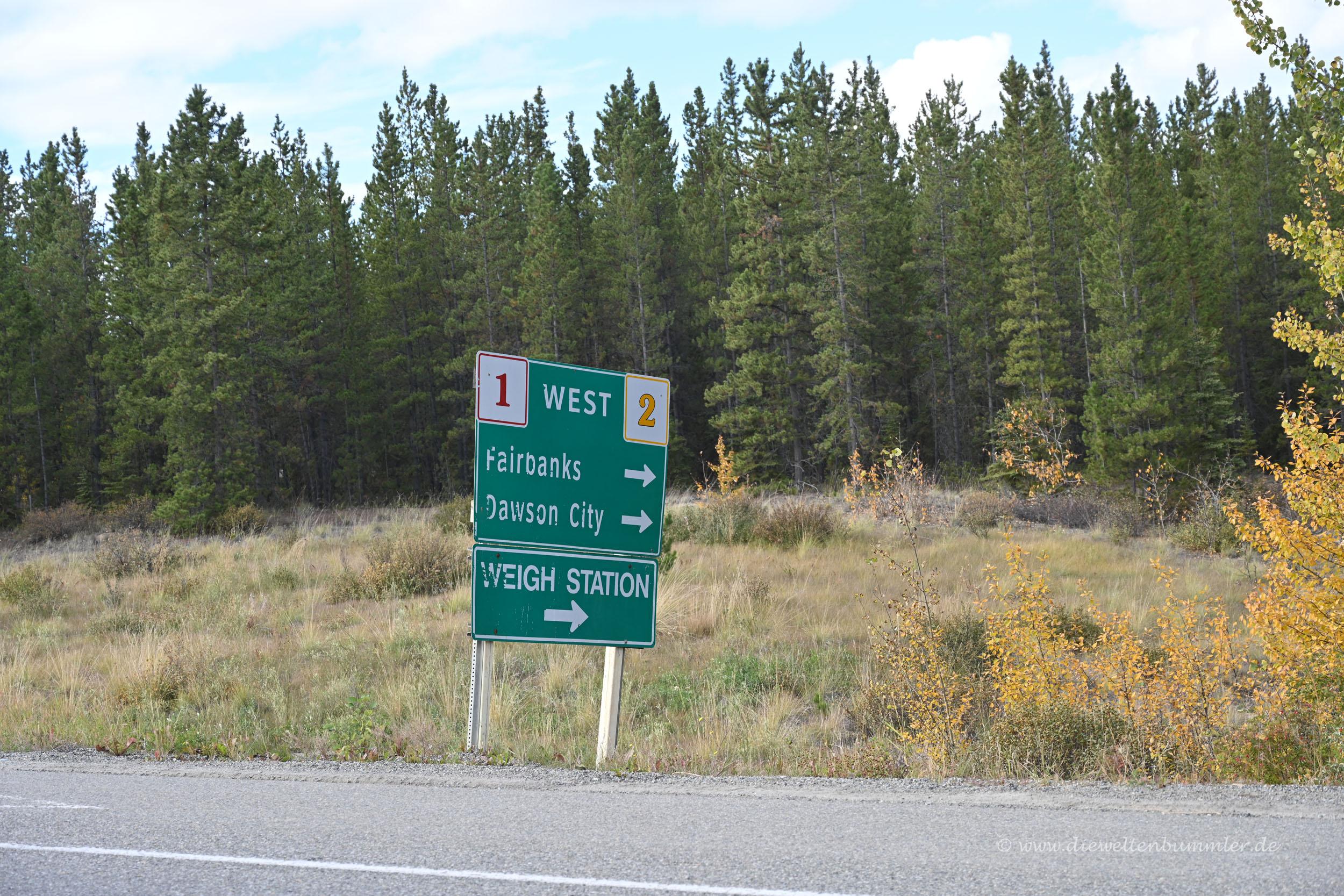 Abzweig zum Klondike Highway