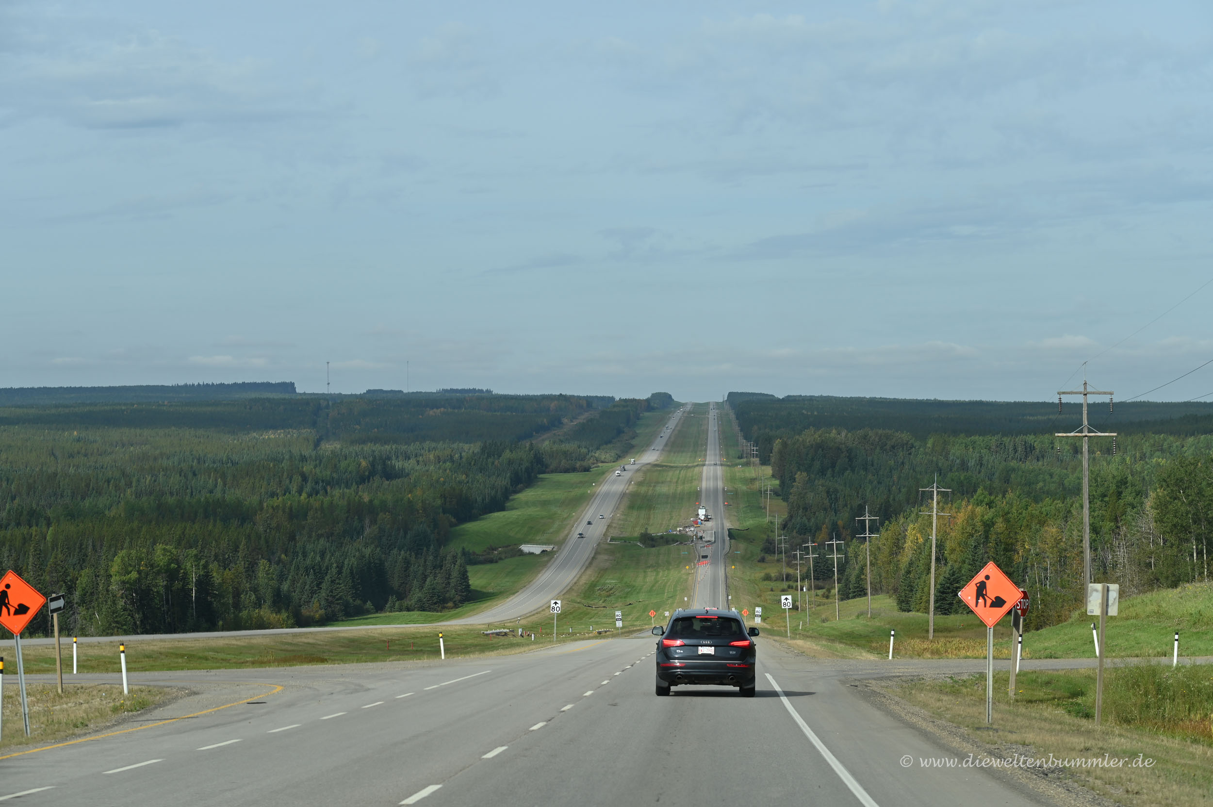 Breite Straßen in Kanada