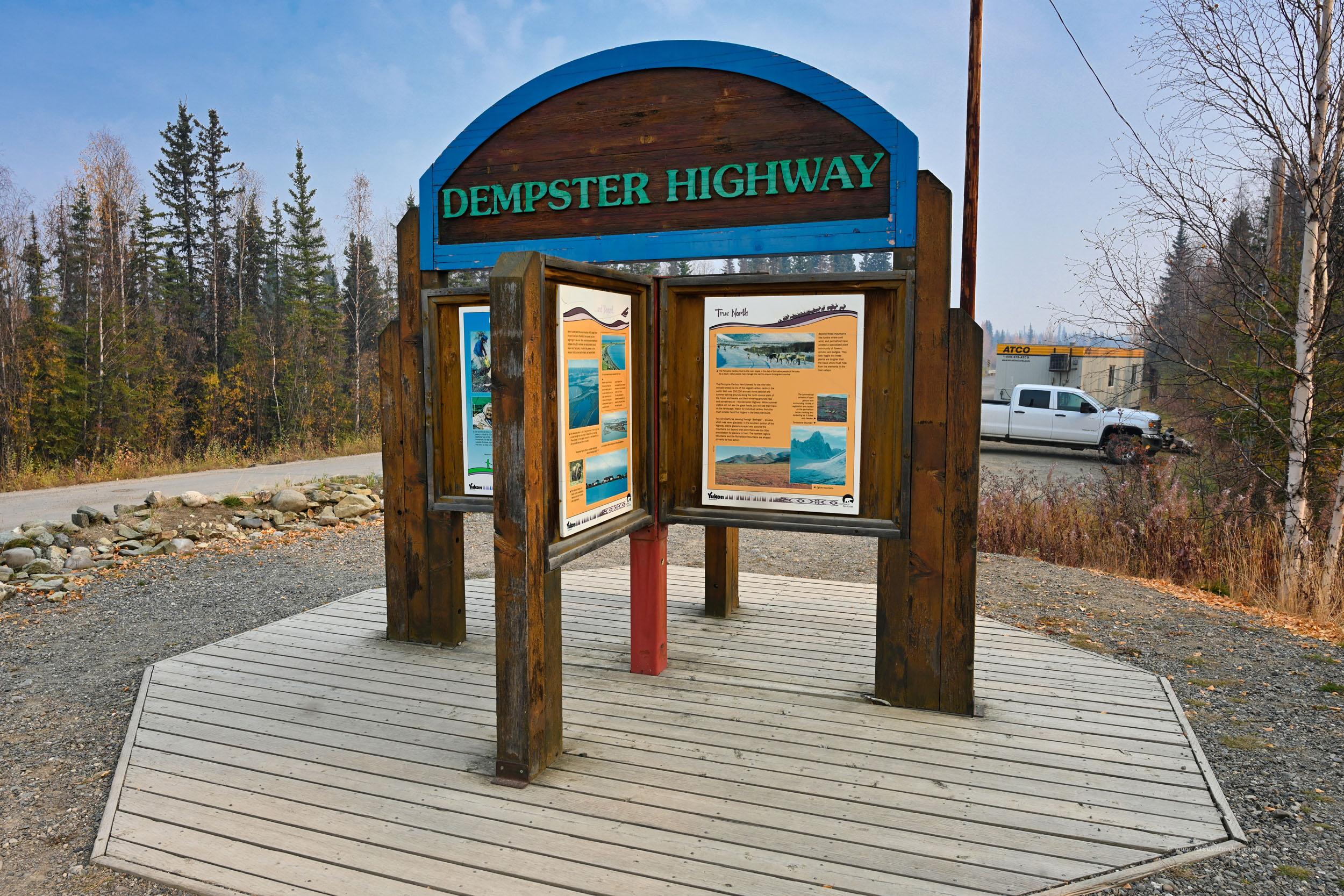 Ausgangspunkt des Dempster Highway