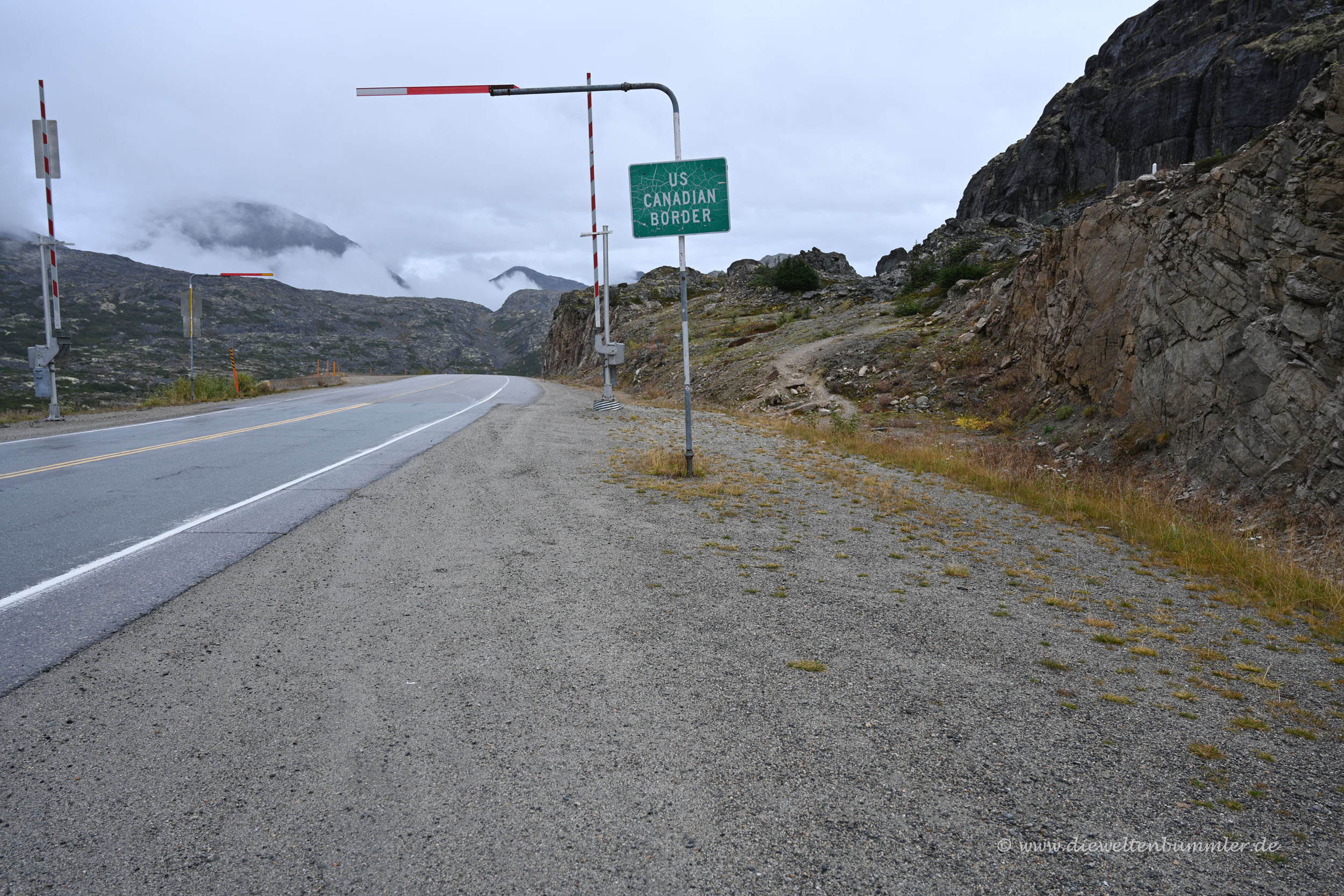 Grenze zwischen Alaska und Kanada