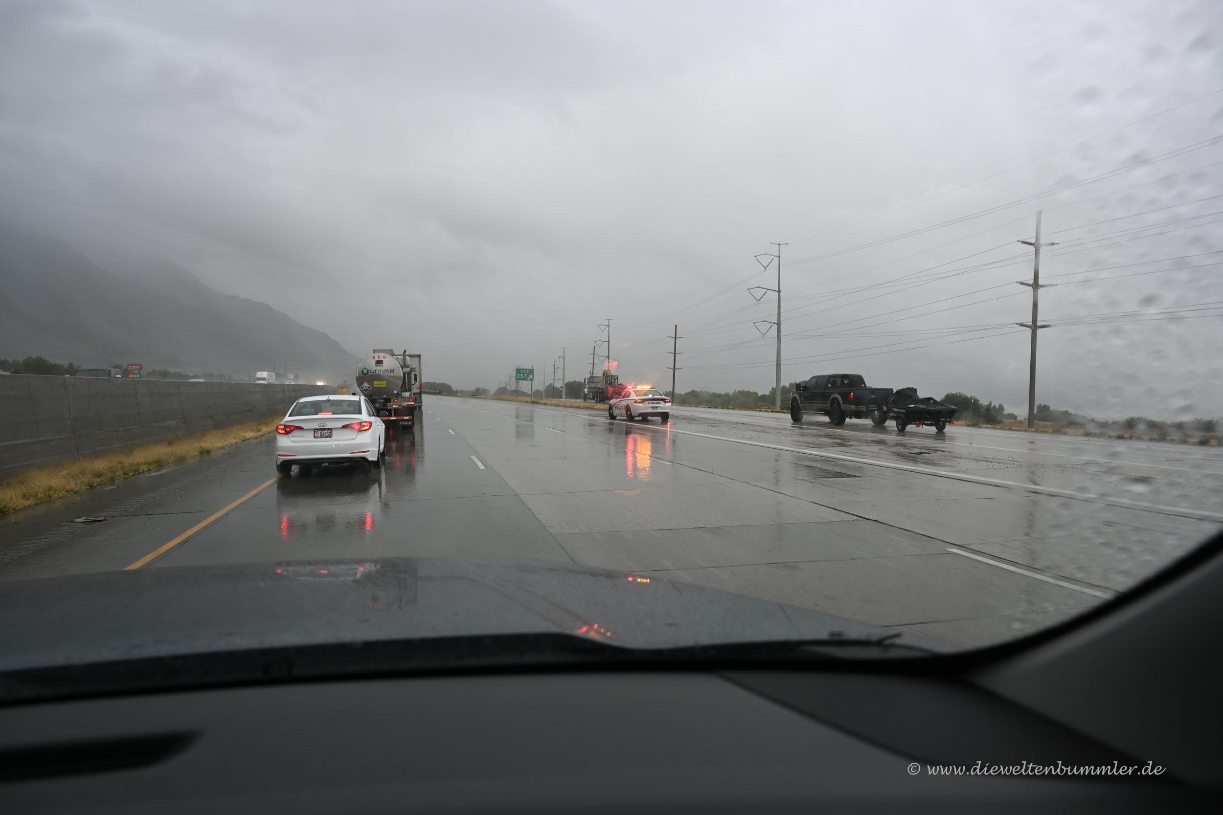 Starkregen bei Salt Lake City