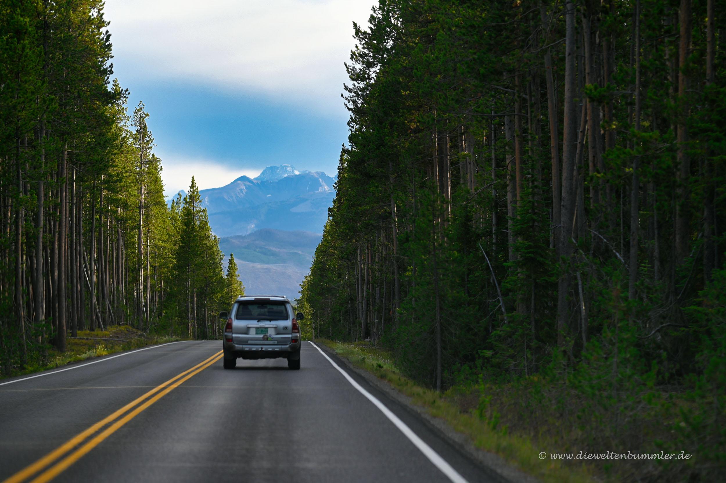 Auf dem Weg zum Grand Teton