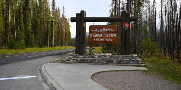 Zufahrt zum Grand Teton Nationalpark