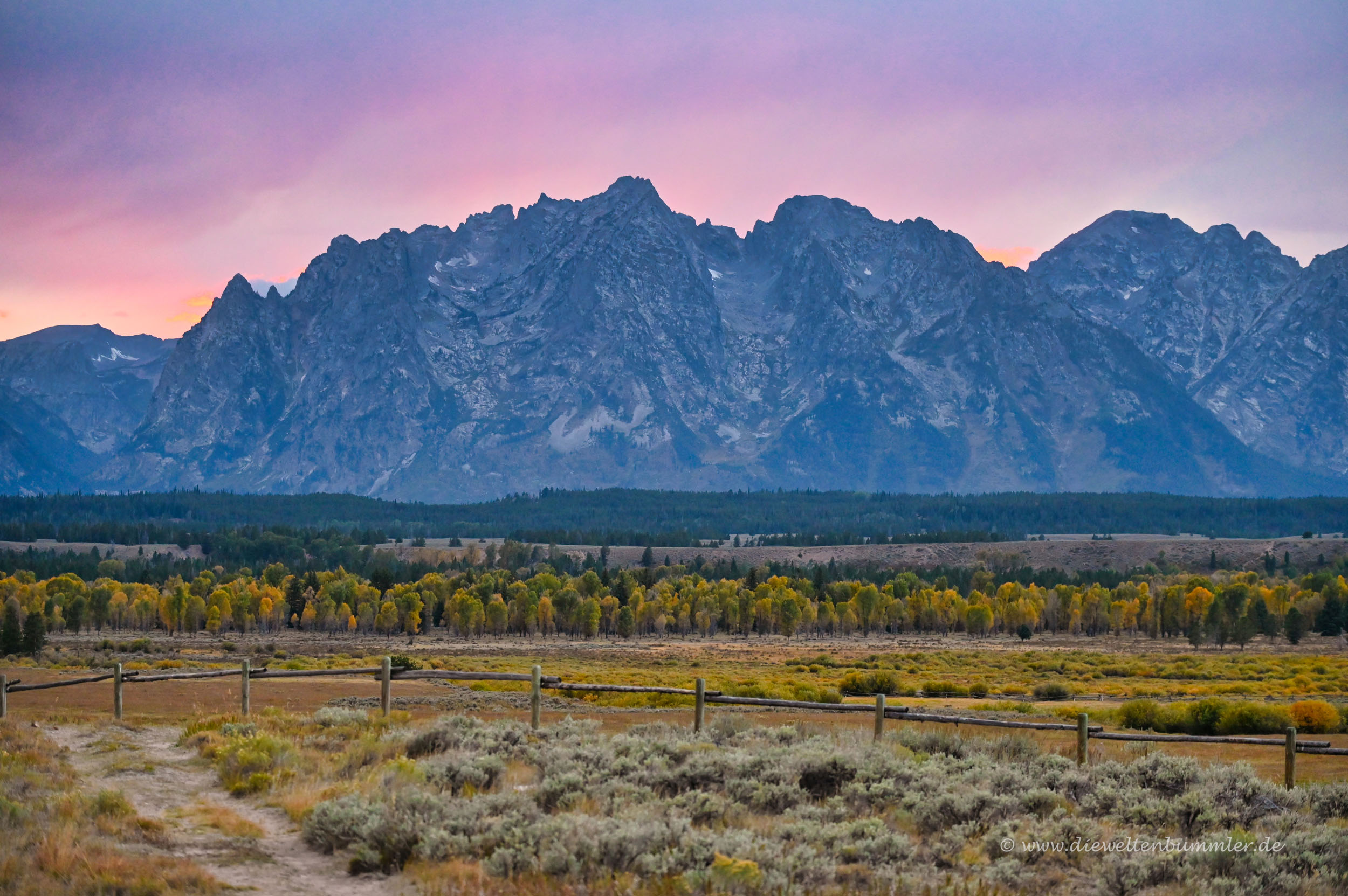 Abendstimmung im Grand Teton Nationalpark
