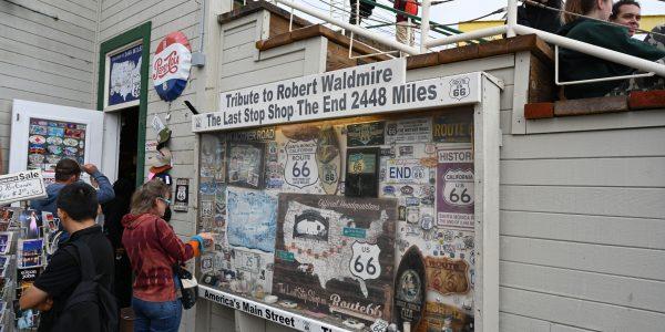 Shop am Ende der Route 66