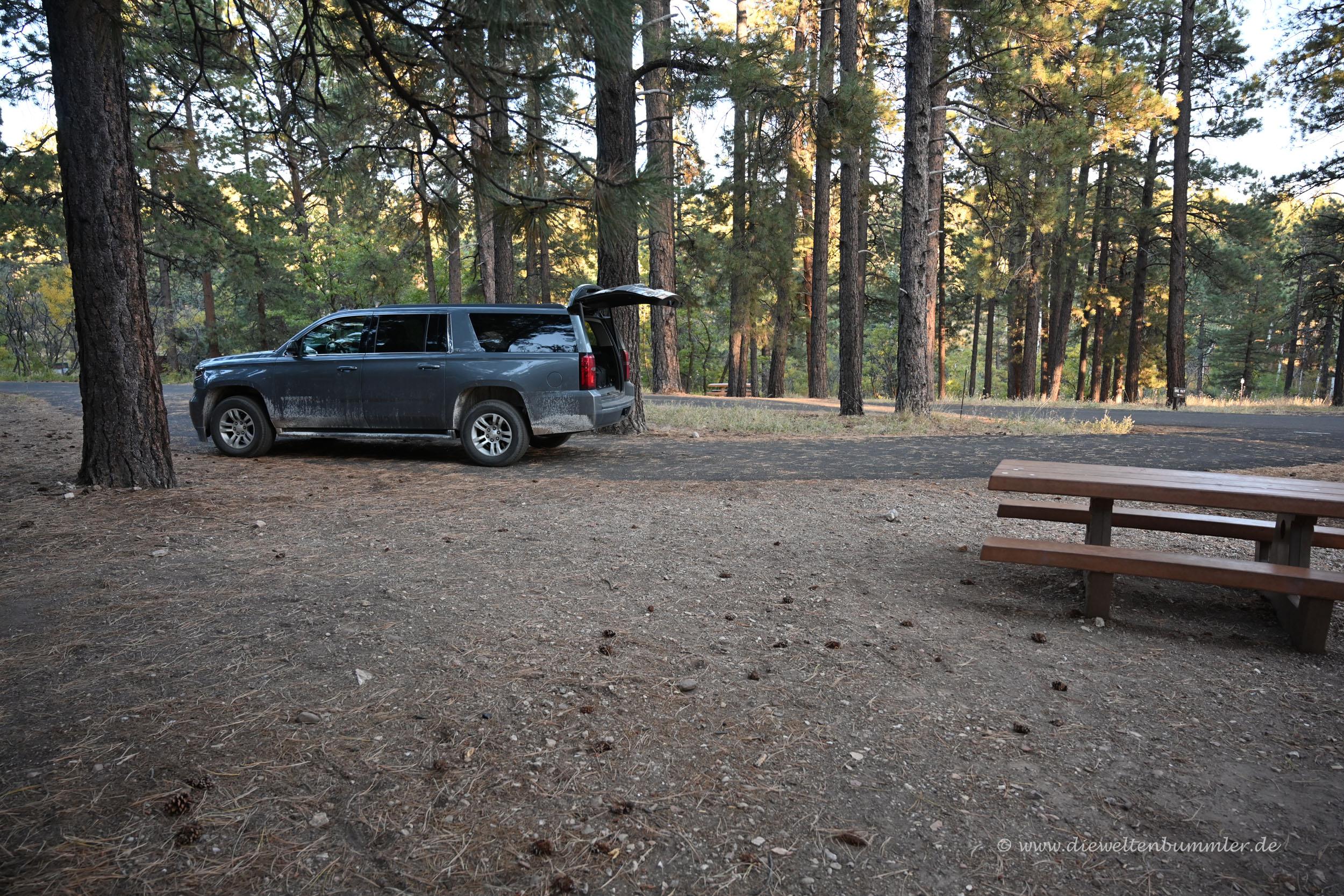 Parzelle auf dem Campingplatz