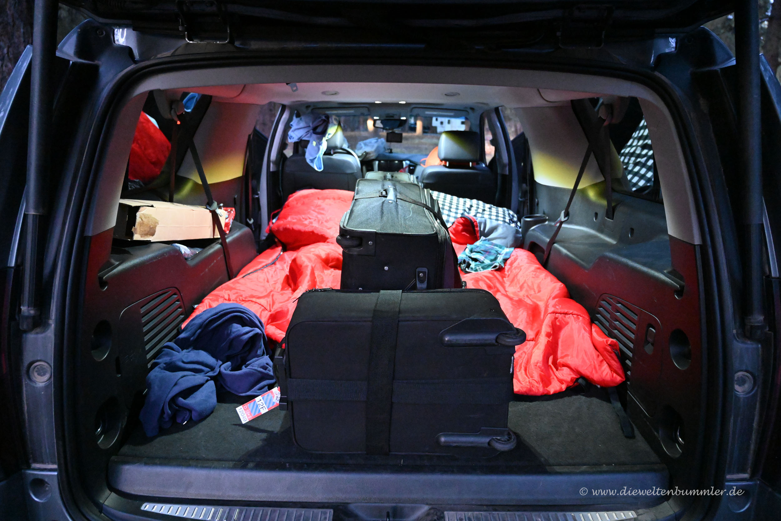 Wir übernachten im Auto