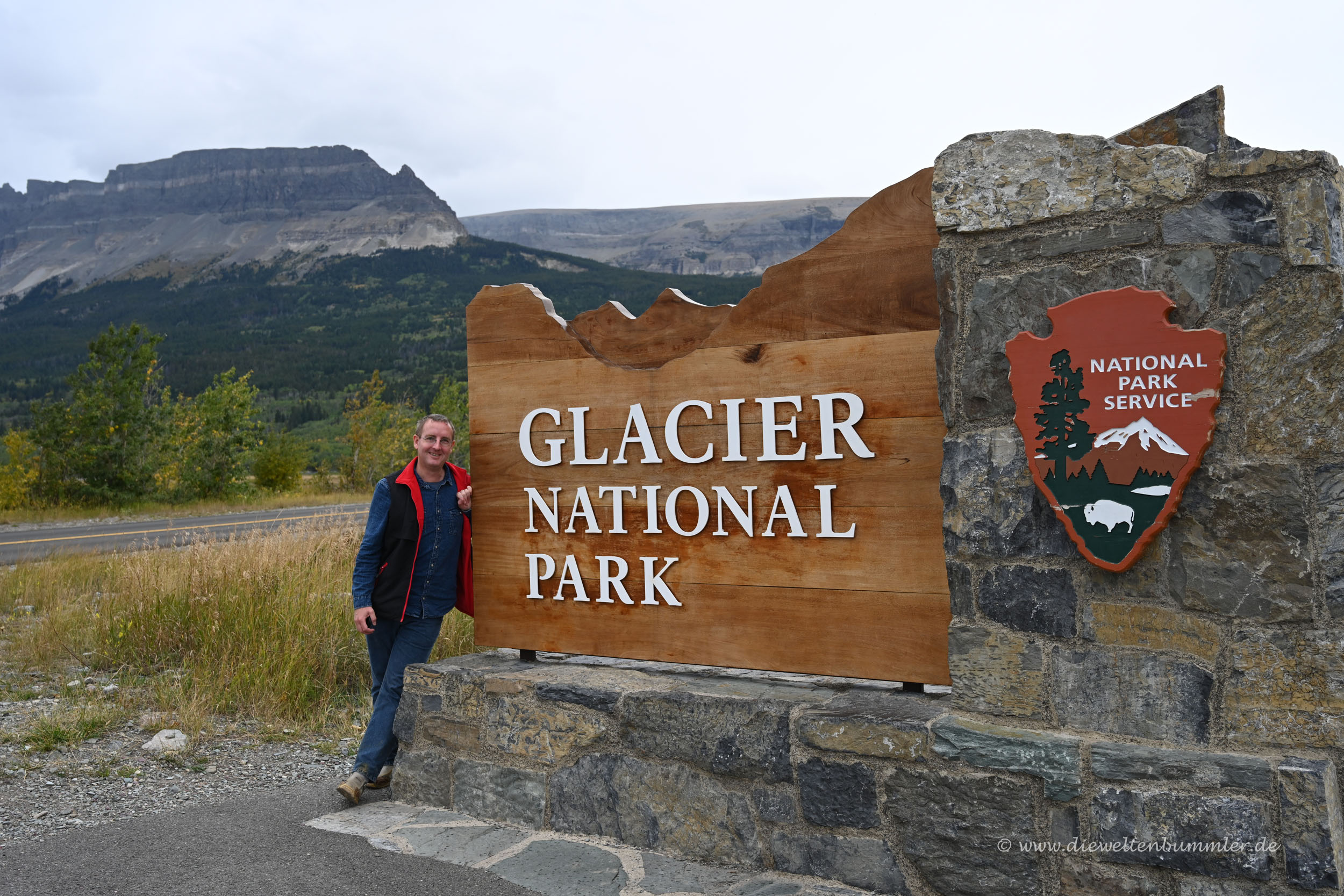 Michael Moll am Glacier Nationalpark