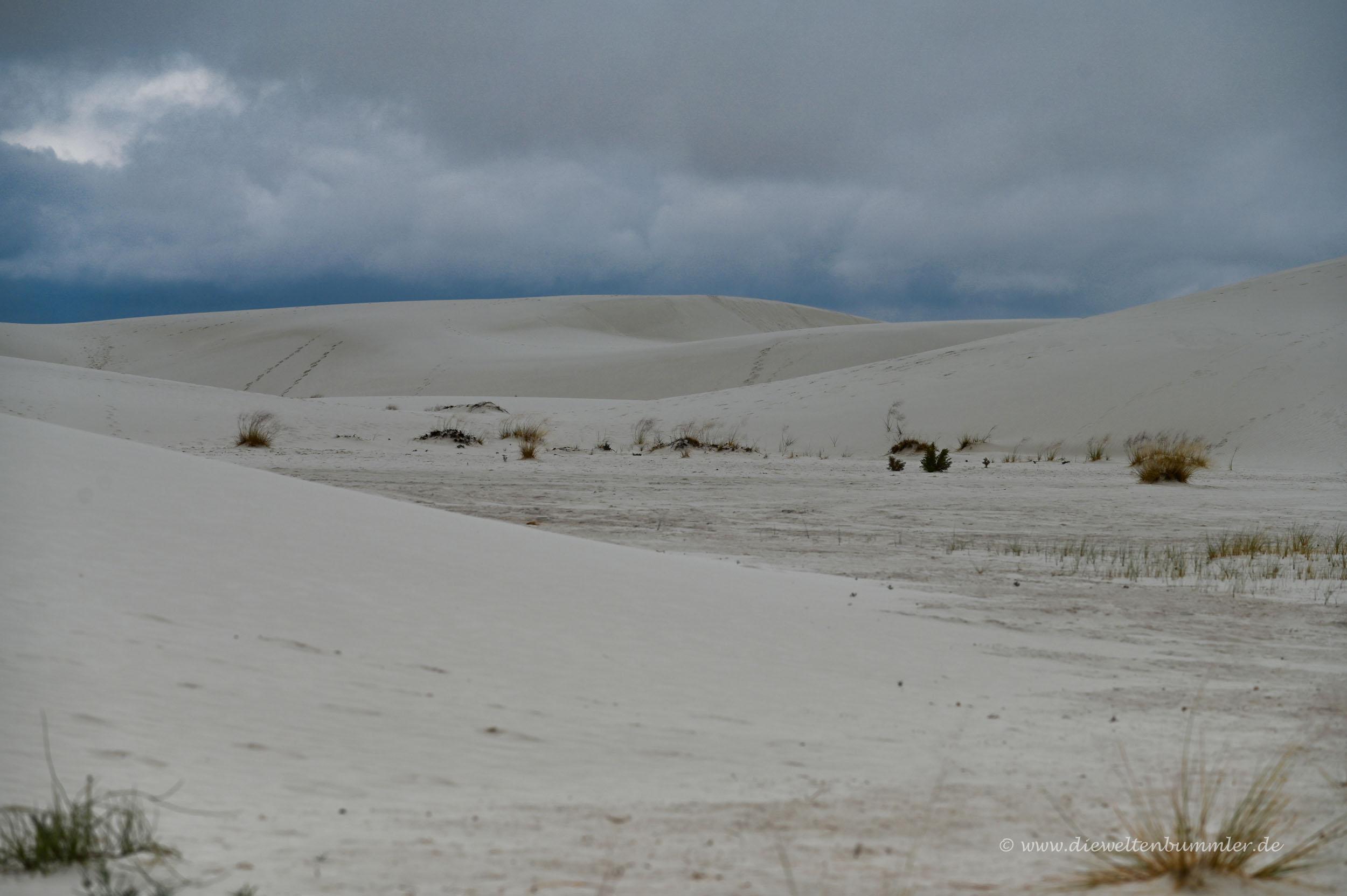 Schlechtes Wetter in der Wüste