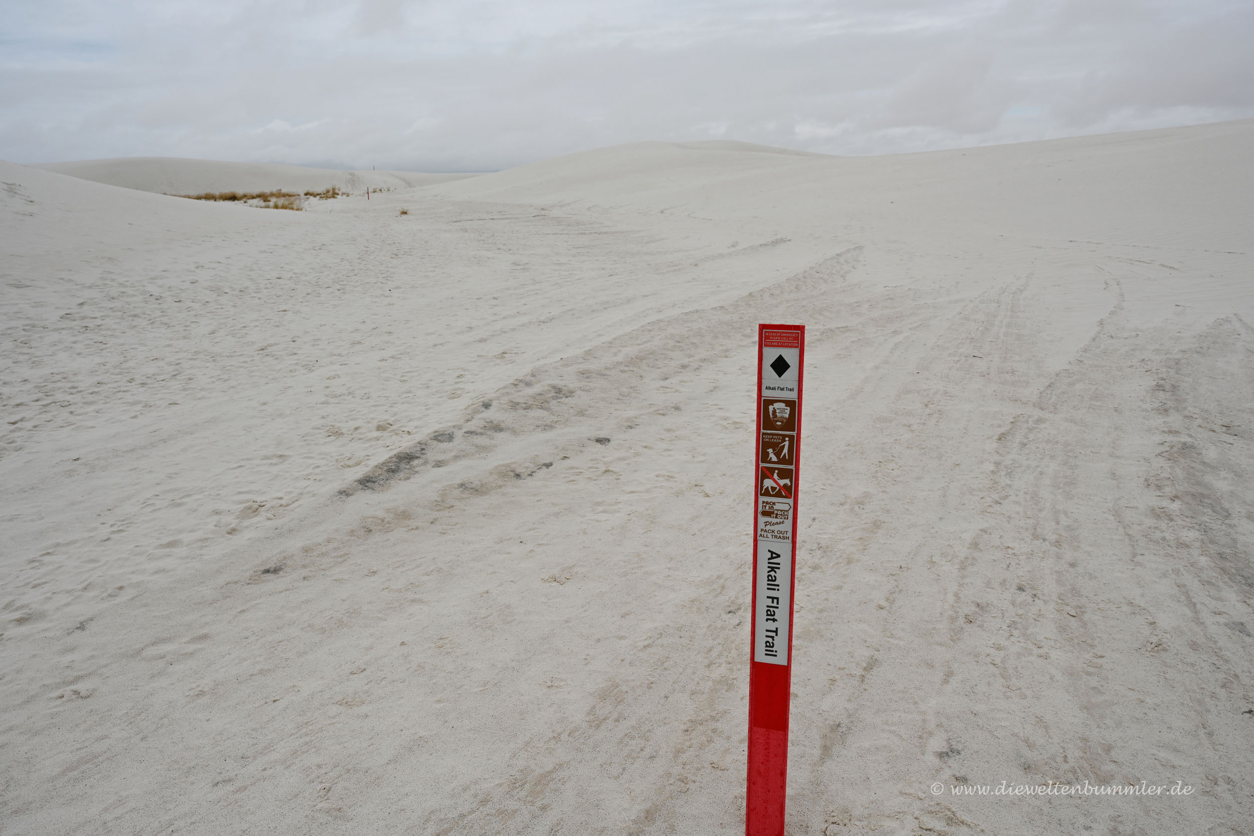 Wanderweg in White Sands