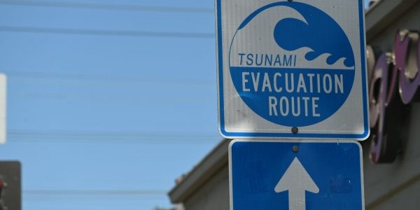 Tsunami Evakuierungsroute