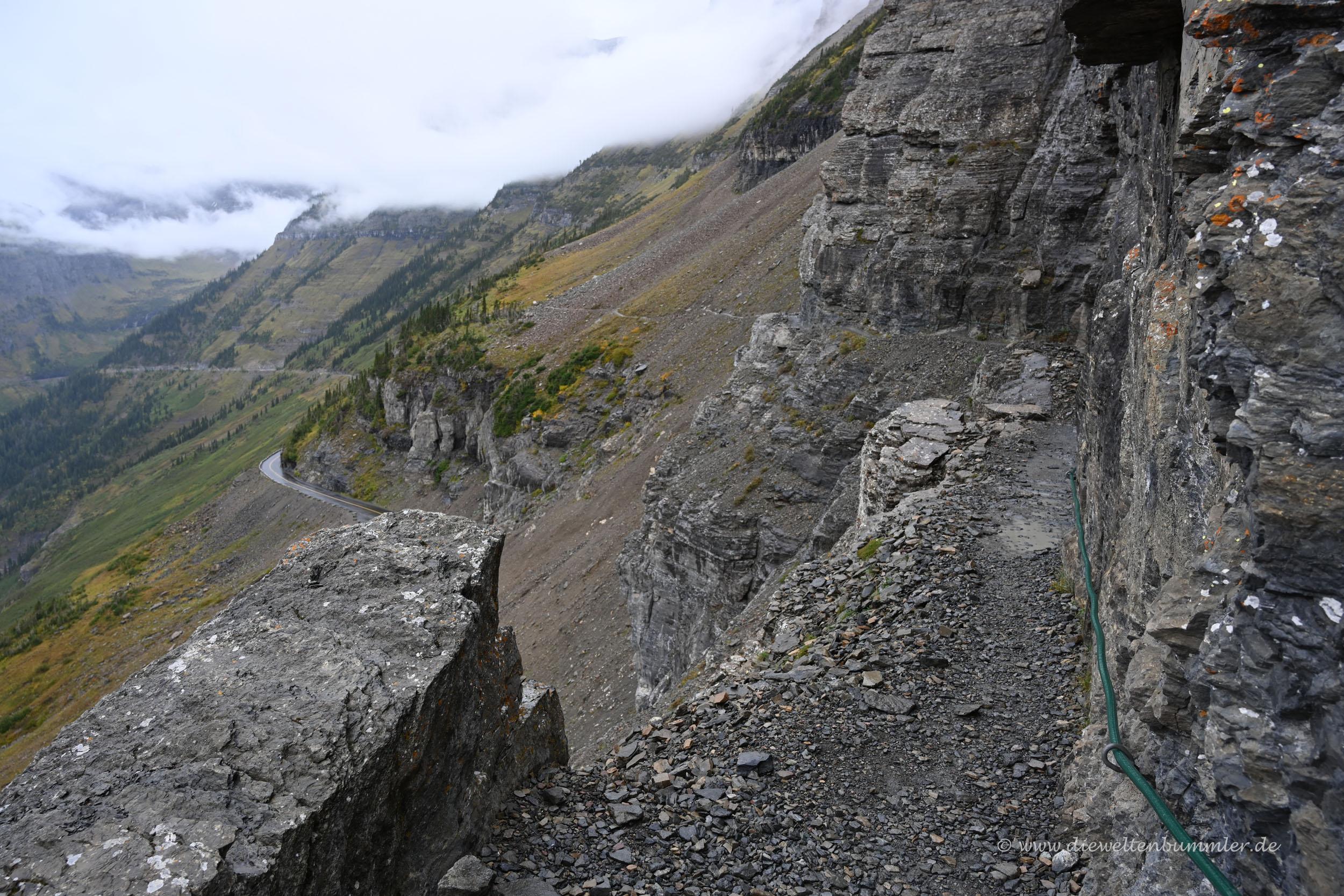 Wanderweg oberhalb der Going to the sun-Road