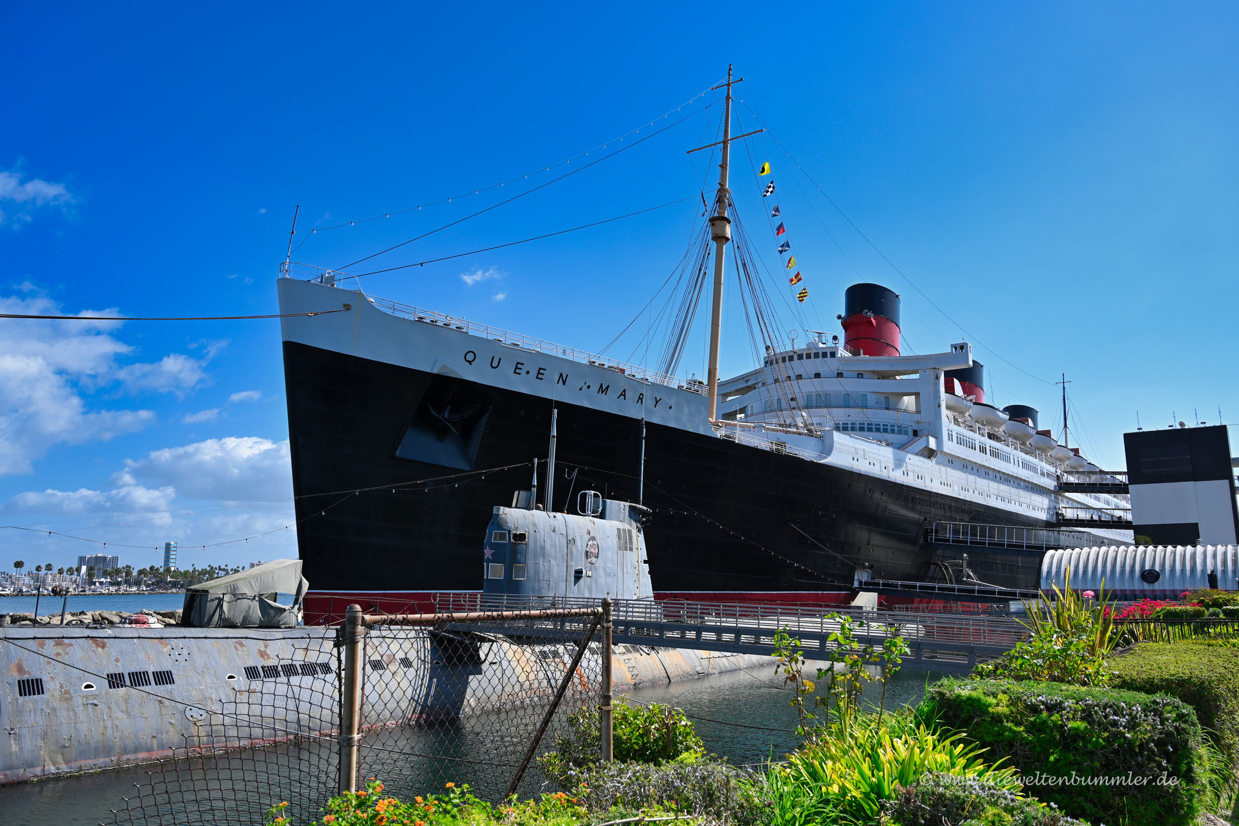 Alte Queen Mary in Long Beach