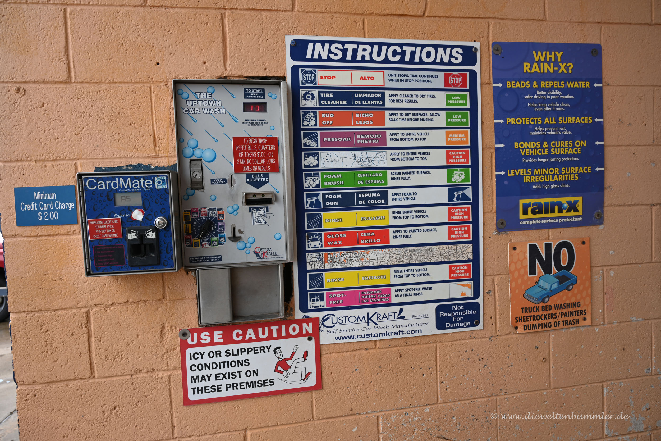 Automat zur Wagenwäsche