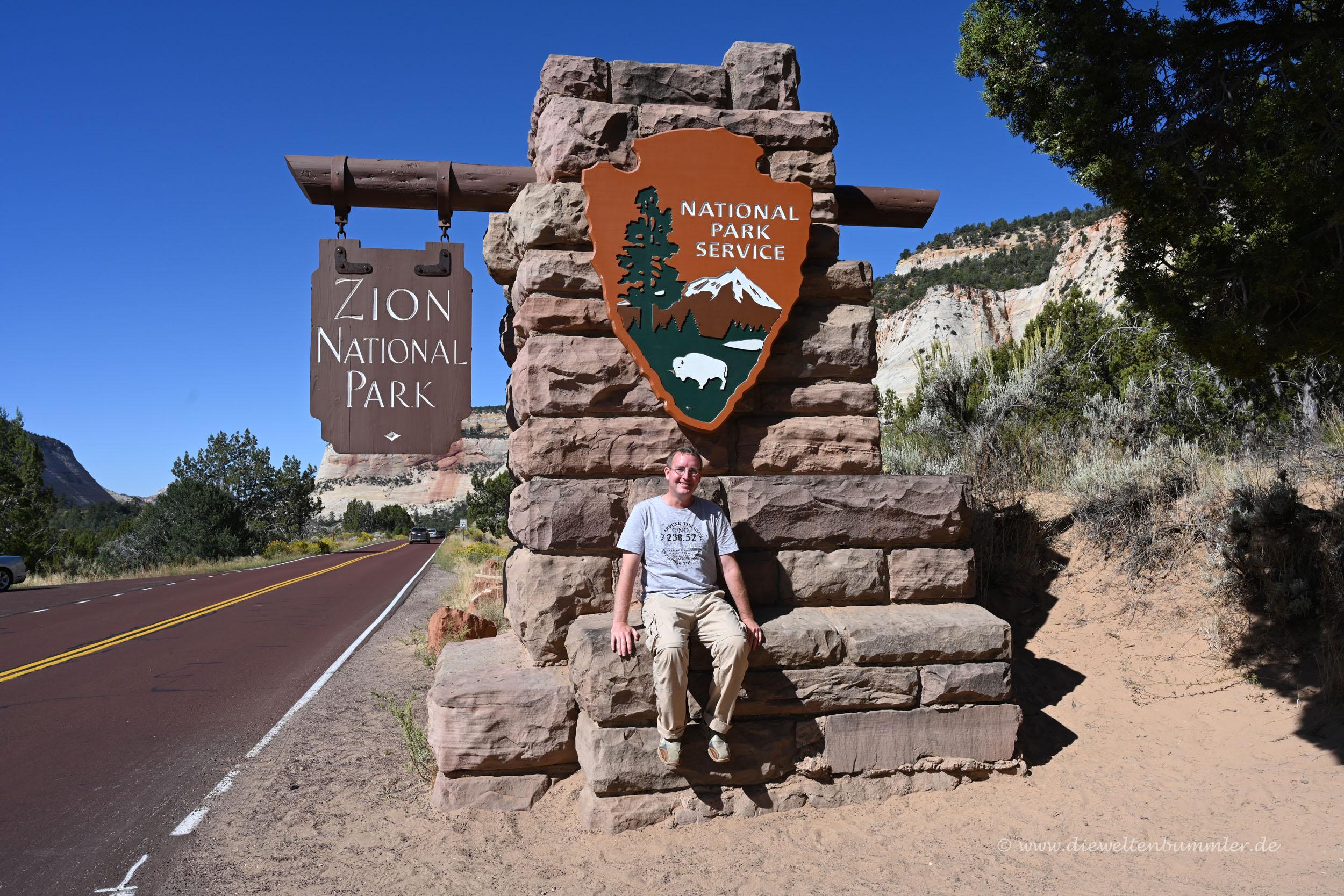 Michael Moll am Zion Nationalpark