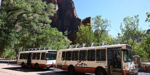 Shuttlebus im Zion Nationalpark
