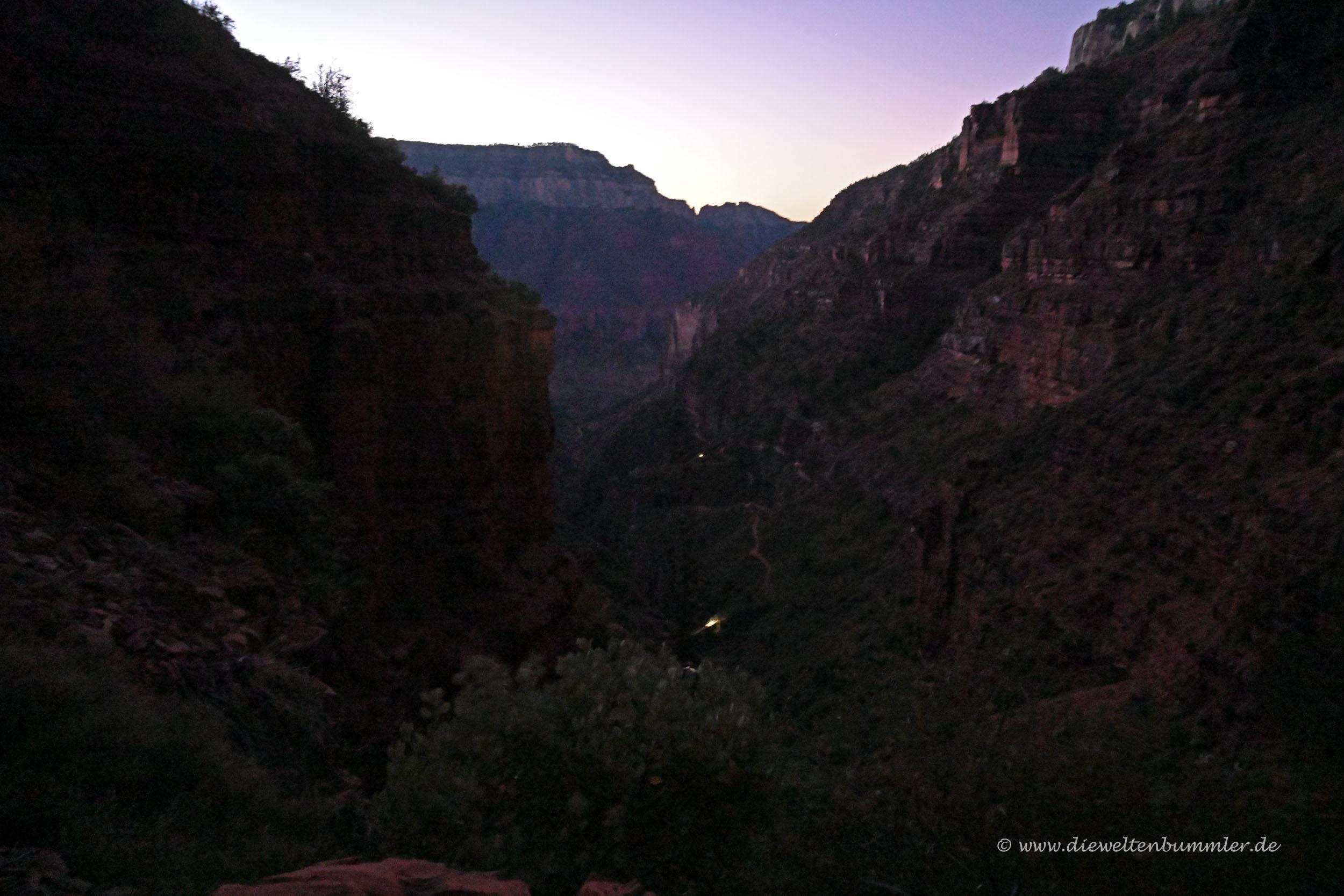 Dämmerung im Grand Canyon